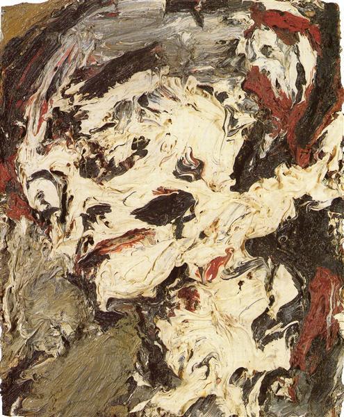 Frank Auerbach's painting Head of Gerda Boehm