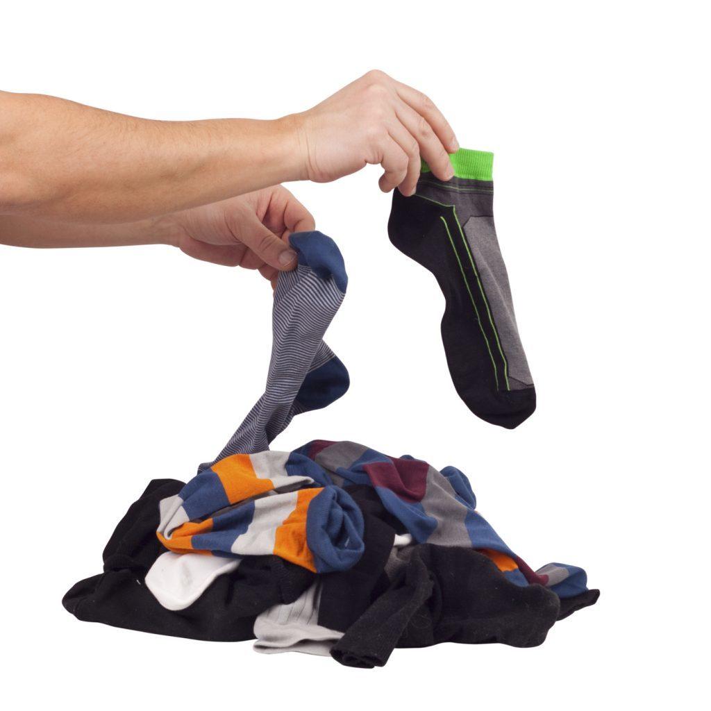 Choose of pile unsorted socks