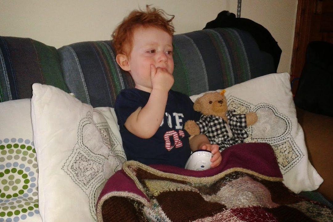 Young Crieff boy Joe Dowse and his favourite teddy, 'Bear Bear'