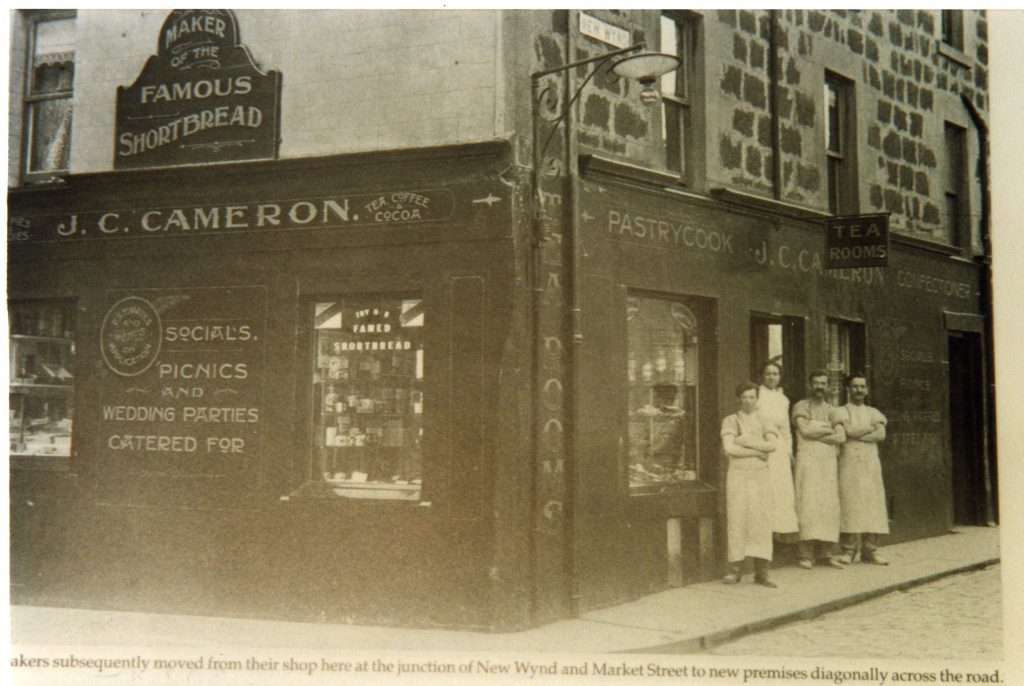Staff and owners of J.C. Cameron's Confectioners in Montrose. Date unknown.
