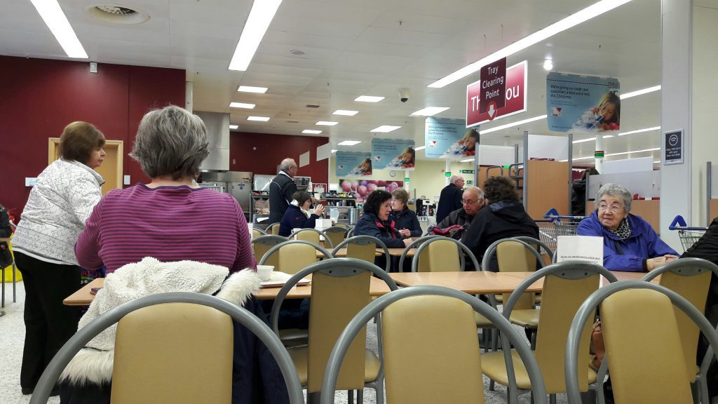 The cafe at Montrose Tesco