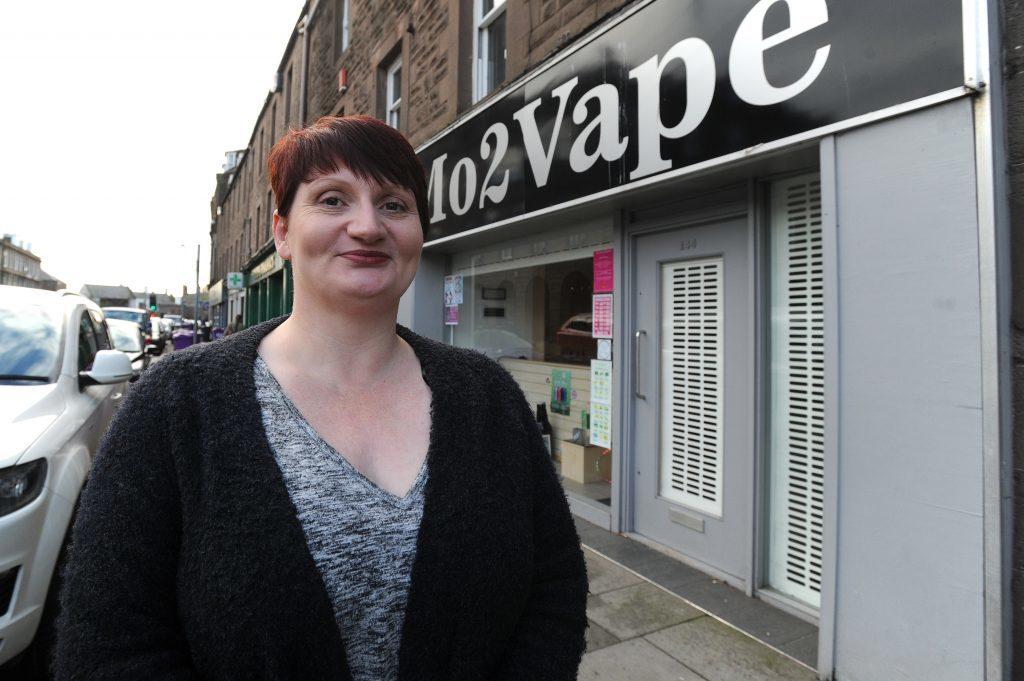 Angie Ogg, owner of MO2VAPE vaping shop at 144 High Street, Montrose.