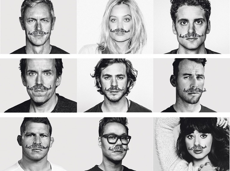 A series of celebrities have backed Movember as a way of raising awareness around men's mental and physical health