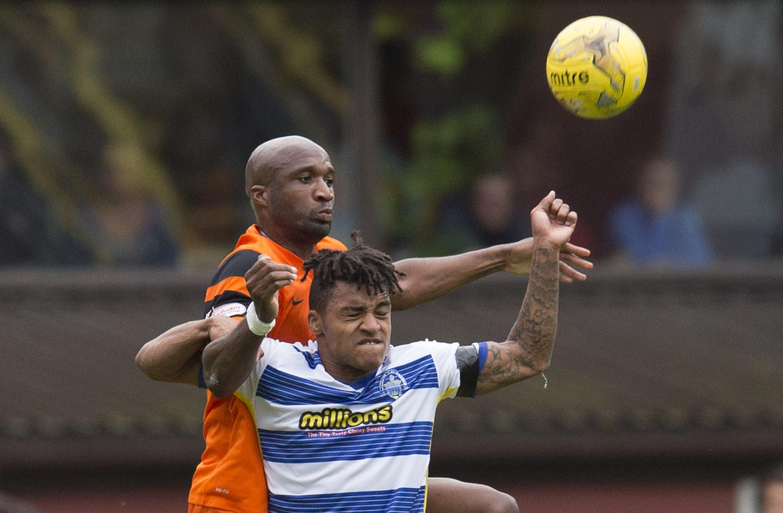 William Edjenguele in action against Morton.