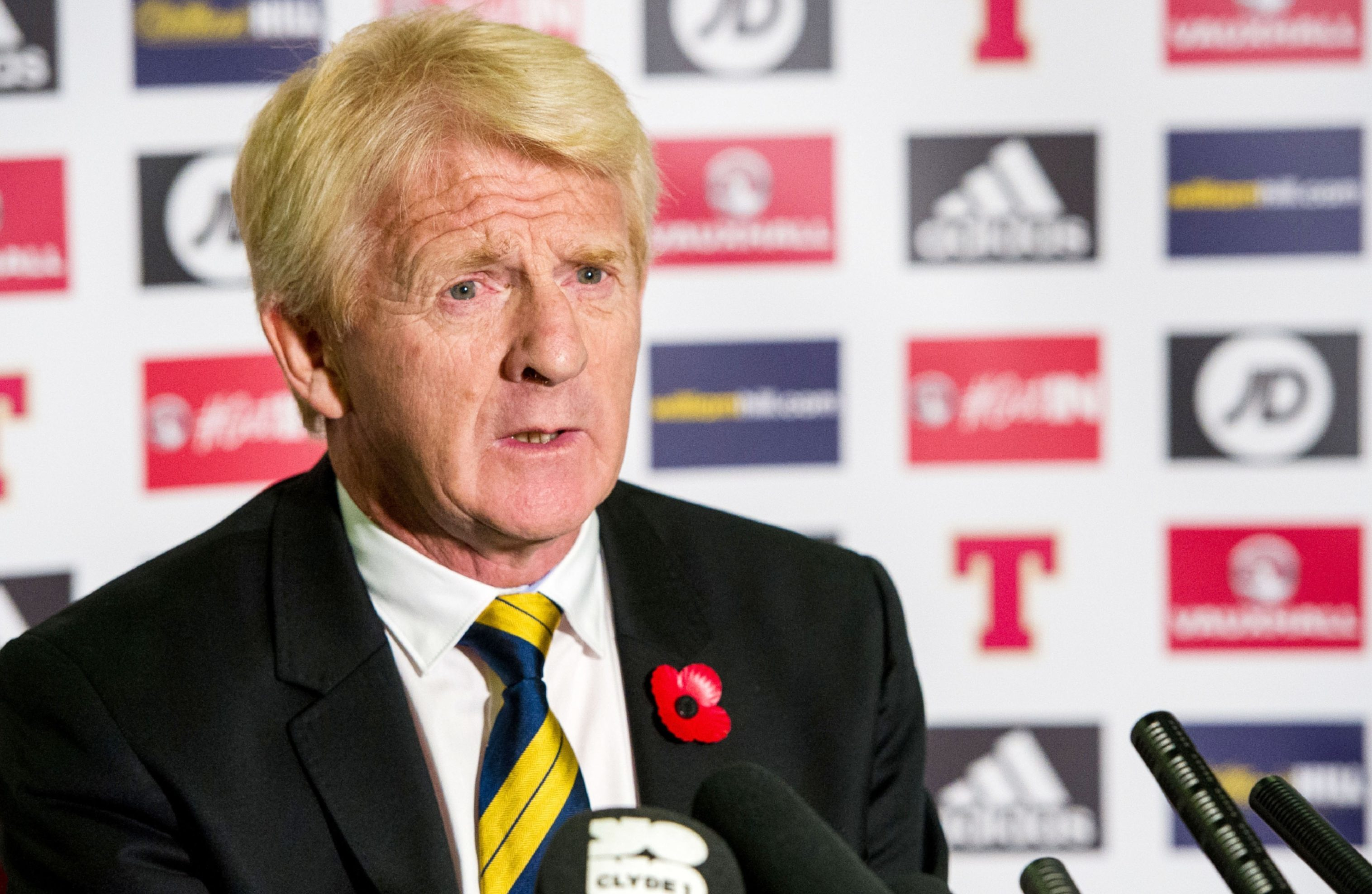 Gordon Strachan at the squad announcement.