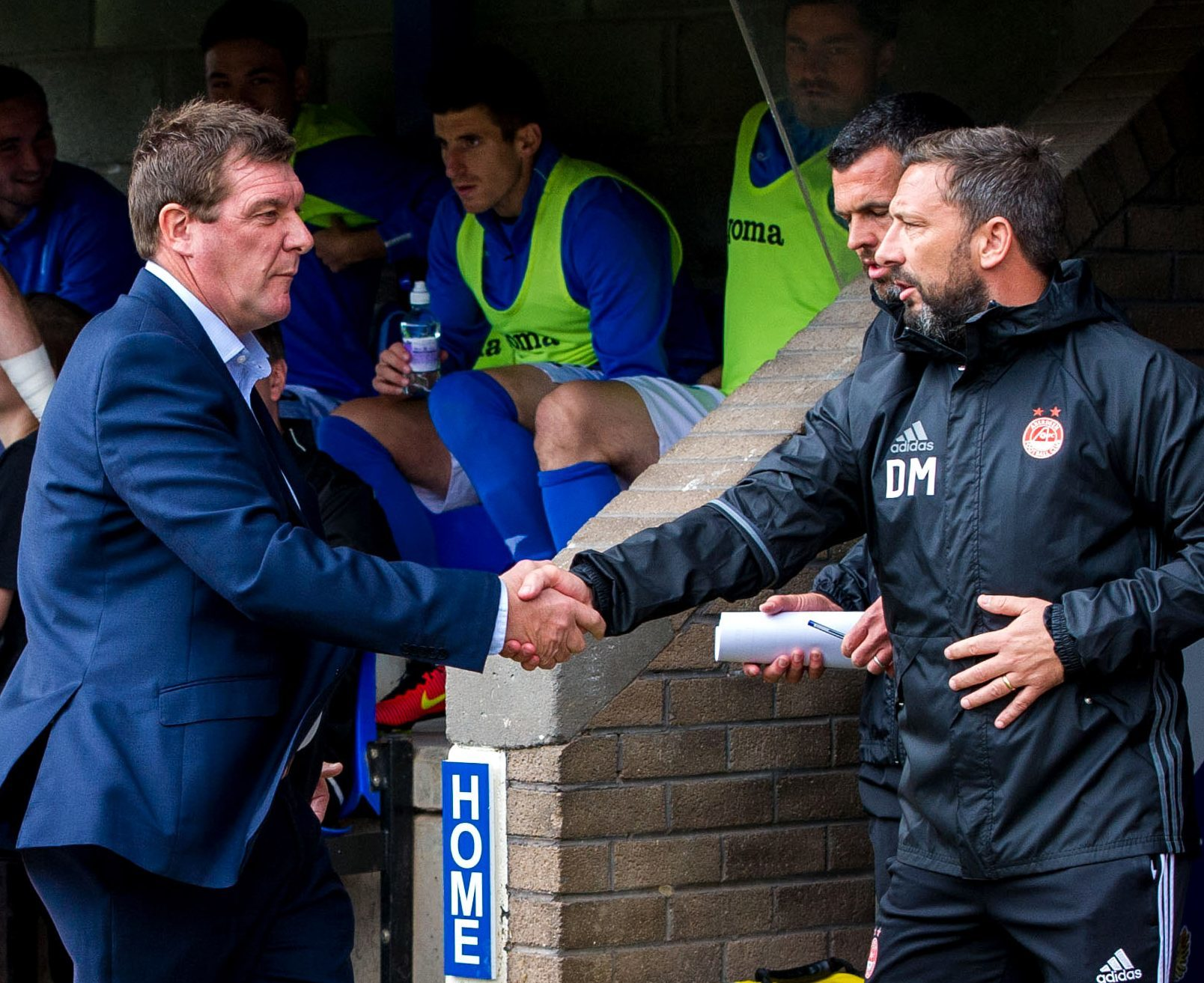 Tommy Wright and Derek McInnes.