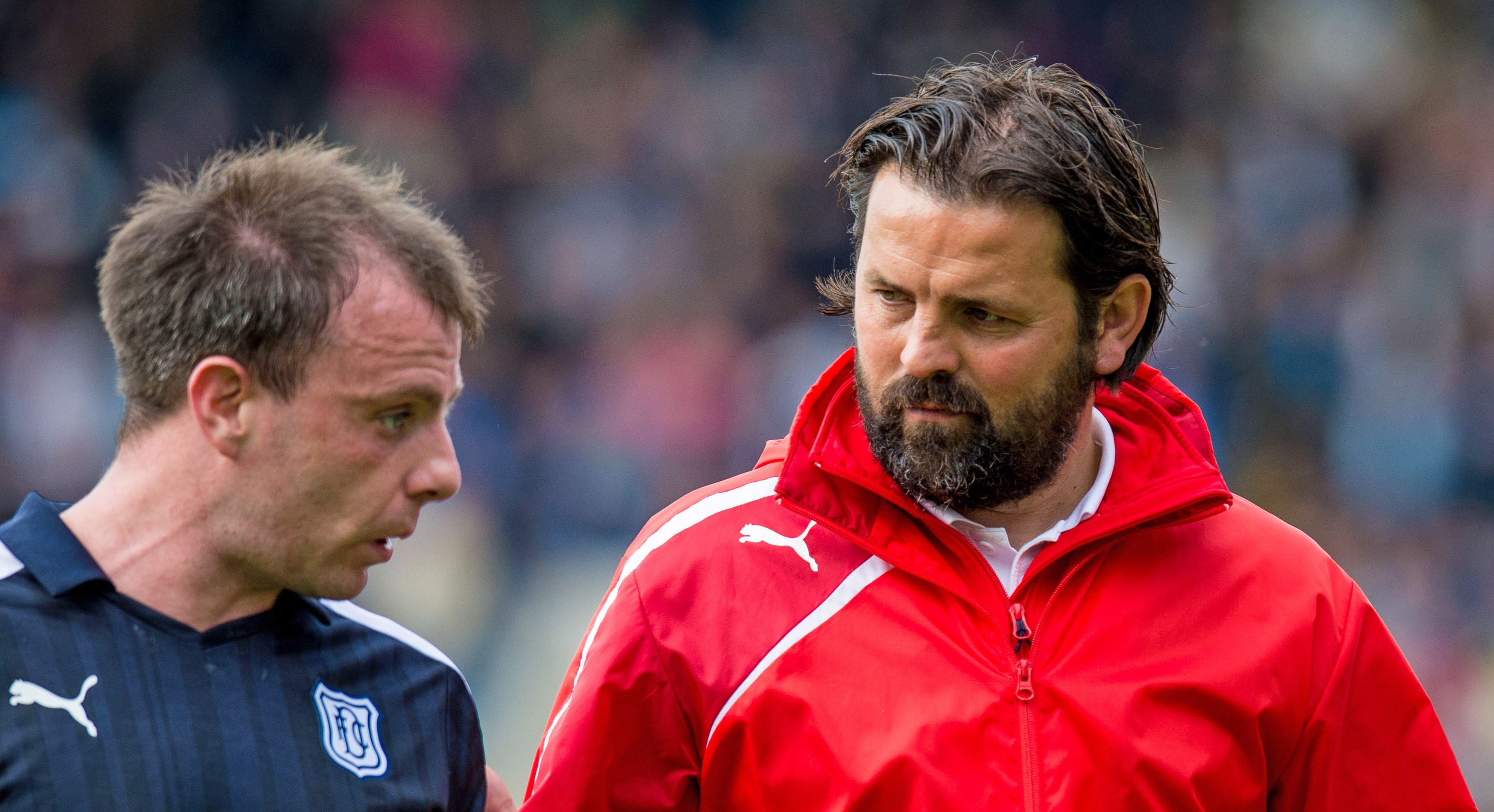 Paul McGowan, left, and Paul Hartley.
