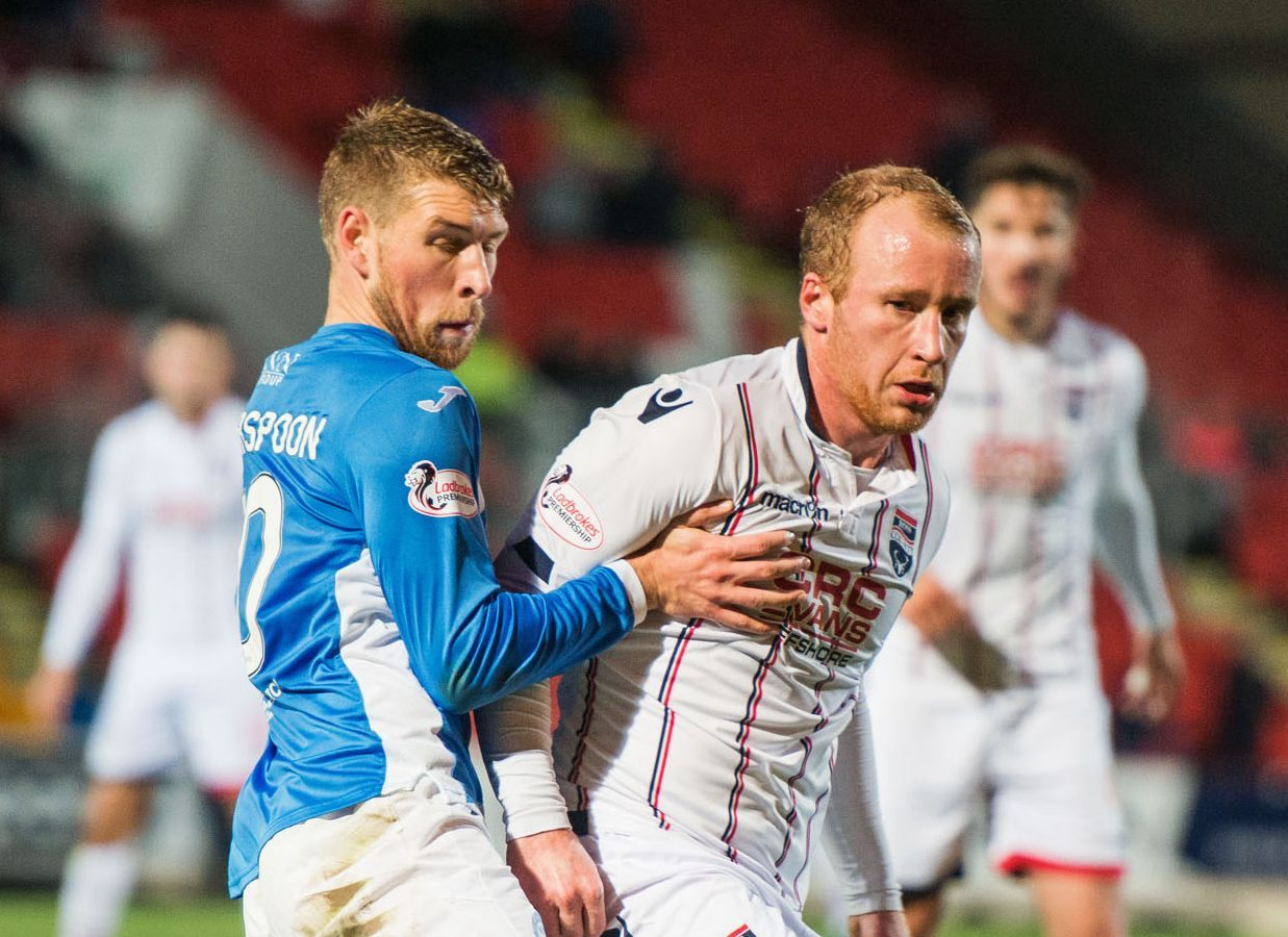 David Wotherspoon in action against Ross County.