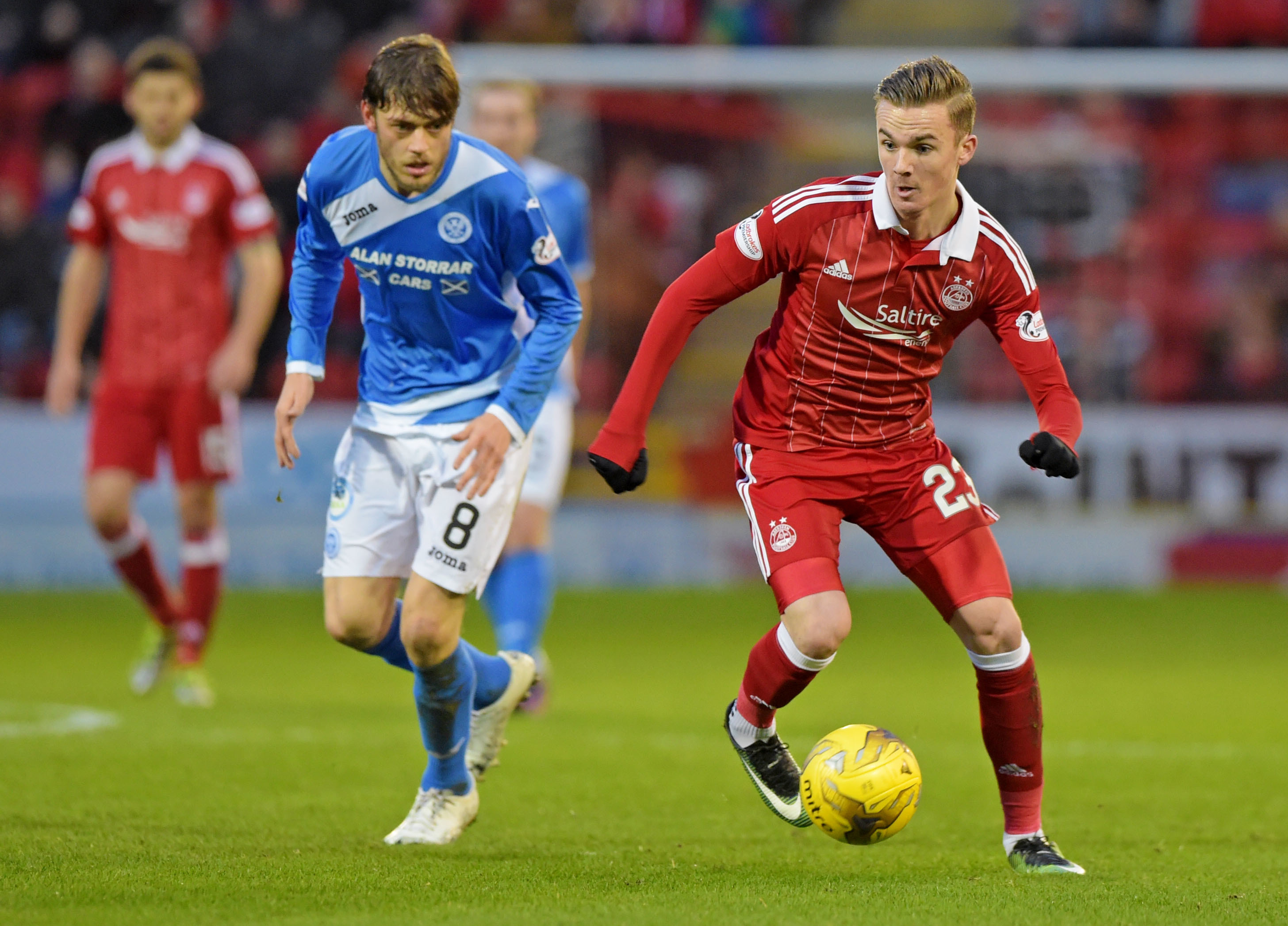 Murray Davidson in action at Pittodrie.