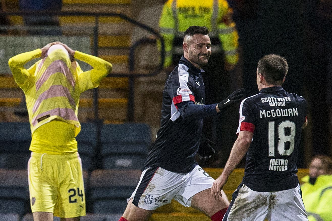 Dejection for Hearts and elation for Dundee.