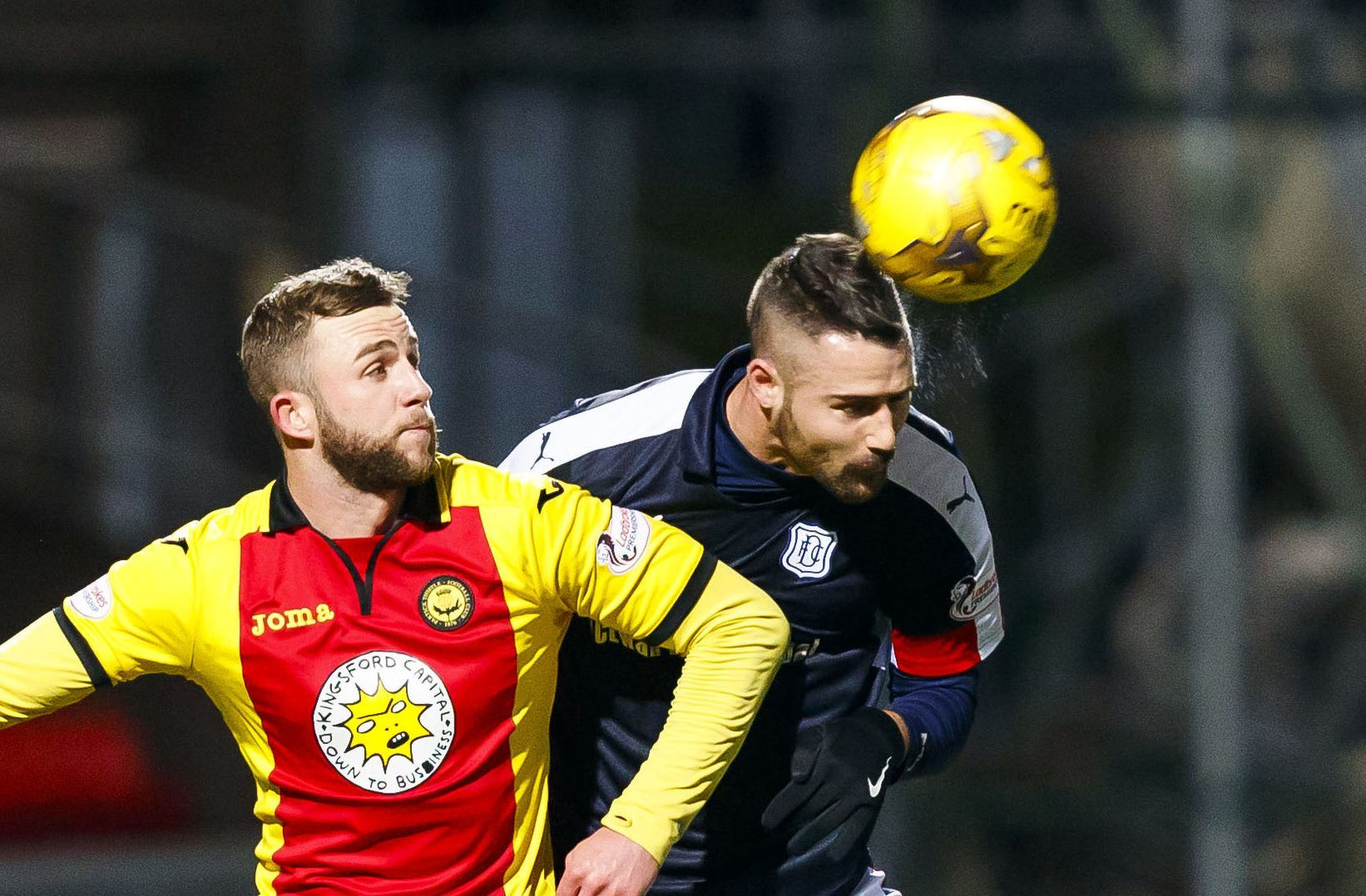 Marcus Haber in action at Firhill in midweek.