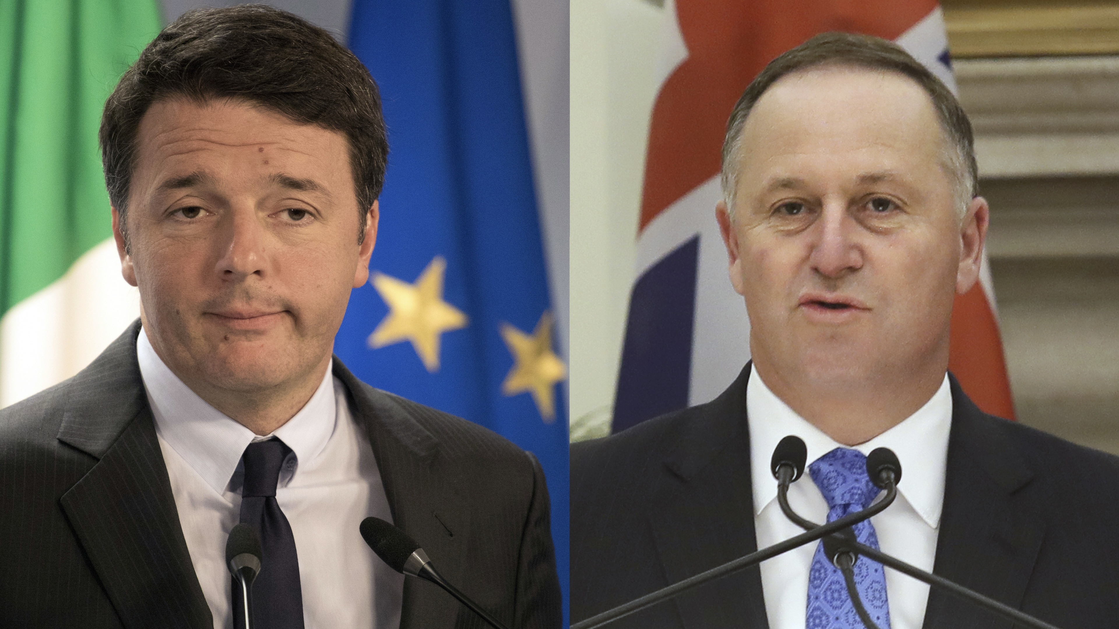Matteo Renzi and John Key.