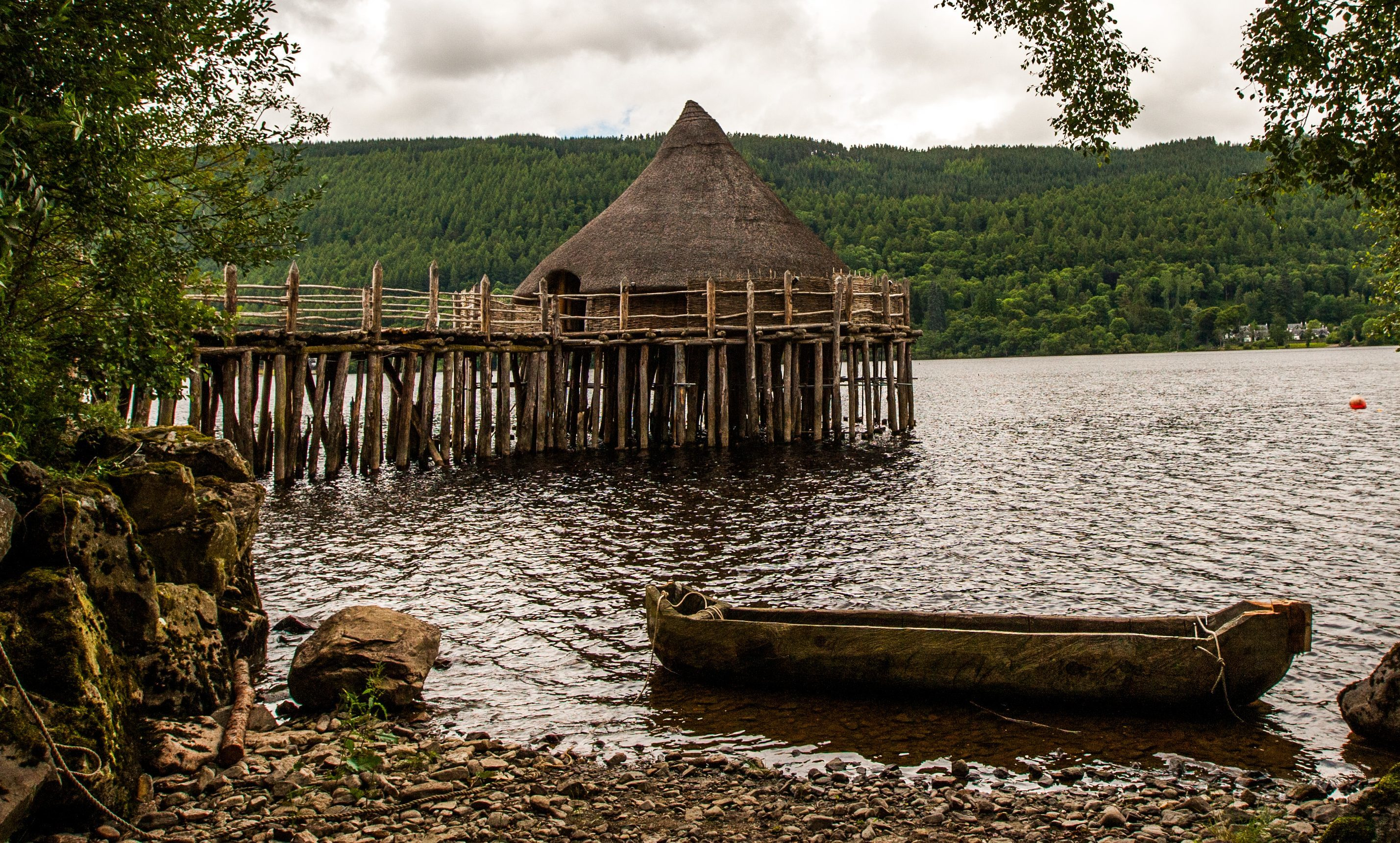 The Scottish Crannog Centre at Loch Tay.
