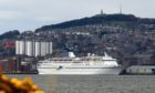 The Magellan cruise ship docked in Dundee.