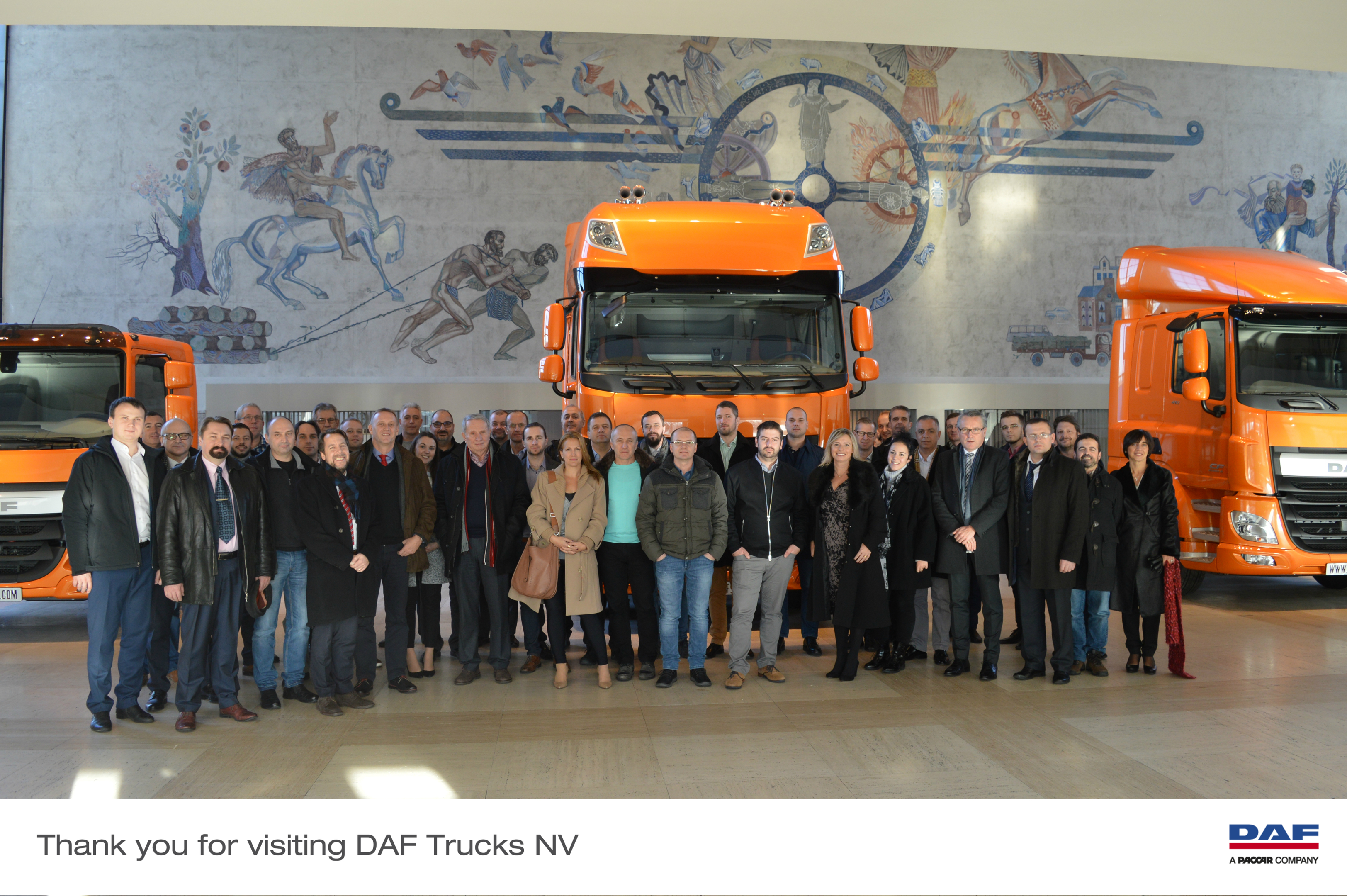 Stoneridge Electronics European importers meet at DAF Trucks in Holland.