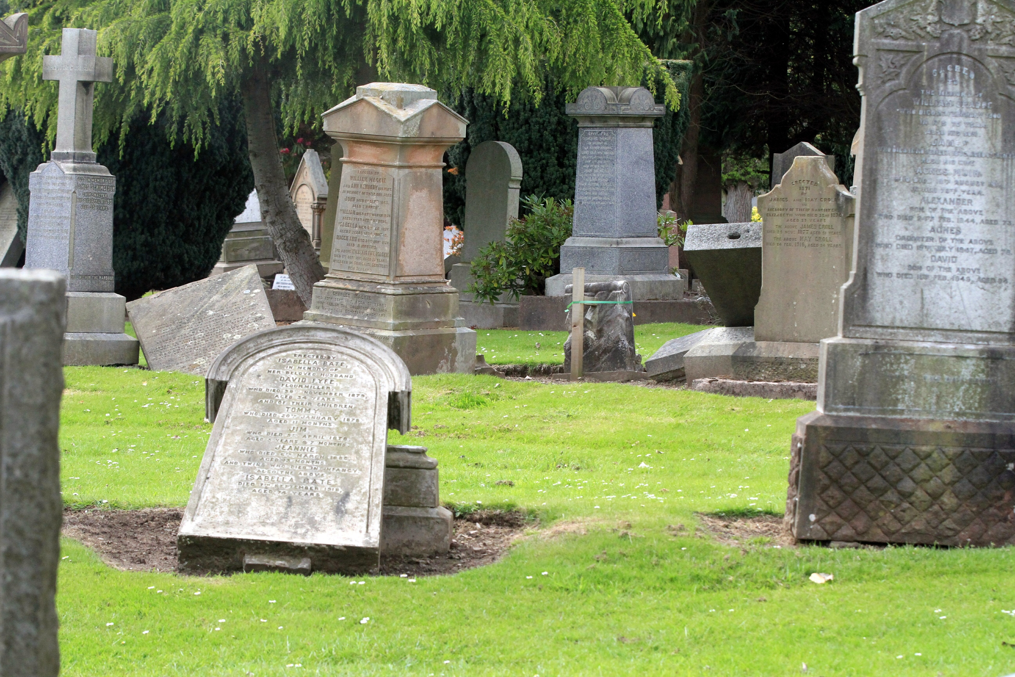 Eastern Cemetery in Dundee.
