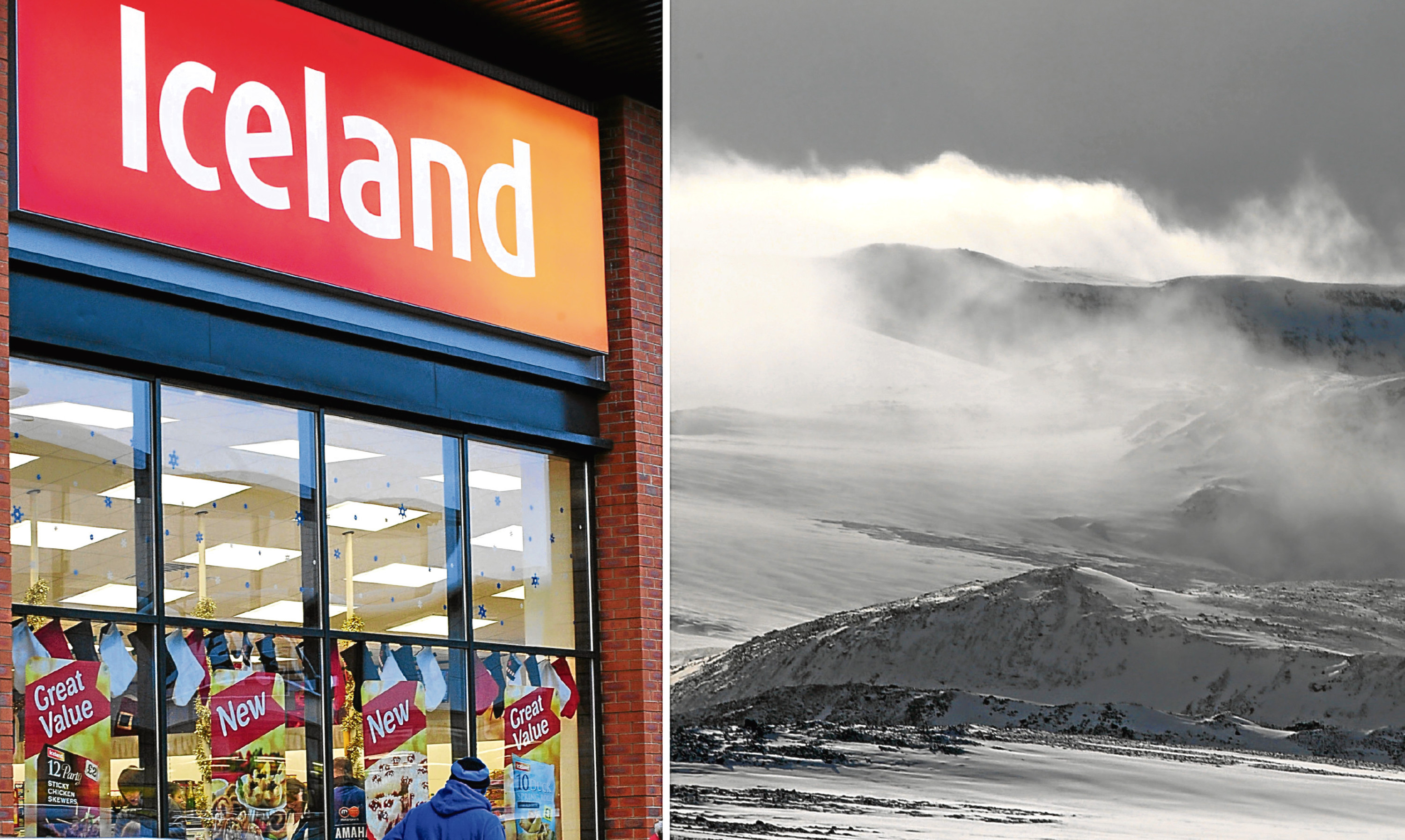 Iceland the shop and Iceland the country. Can you tell which is which?