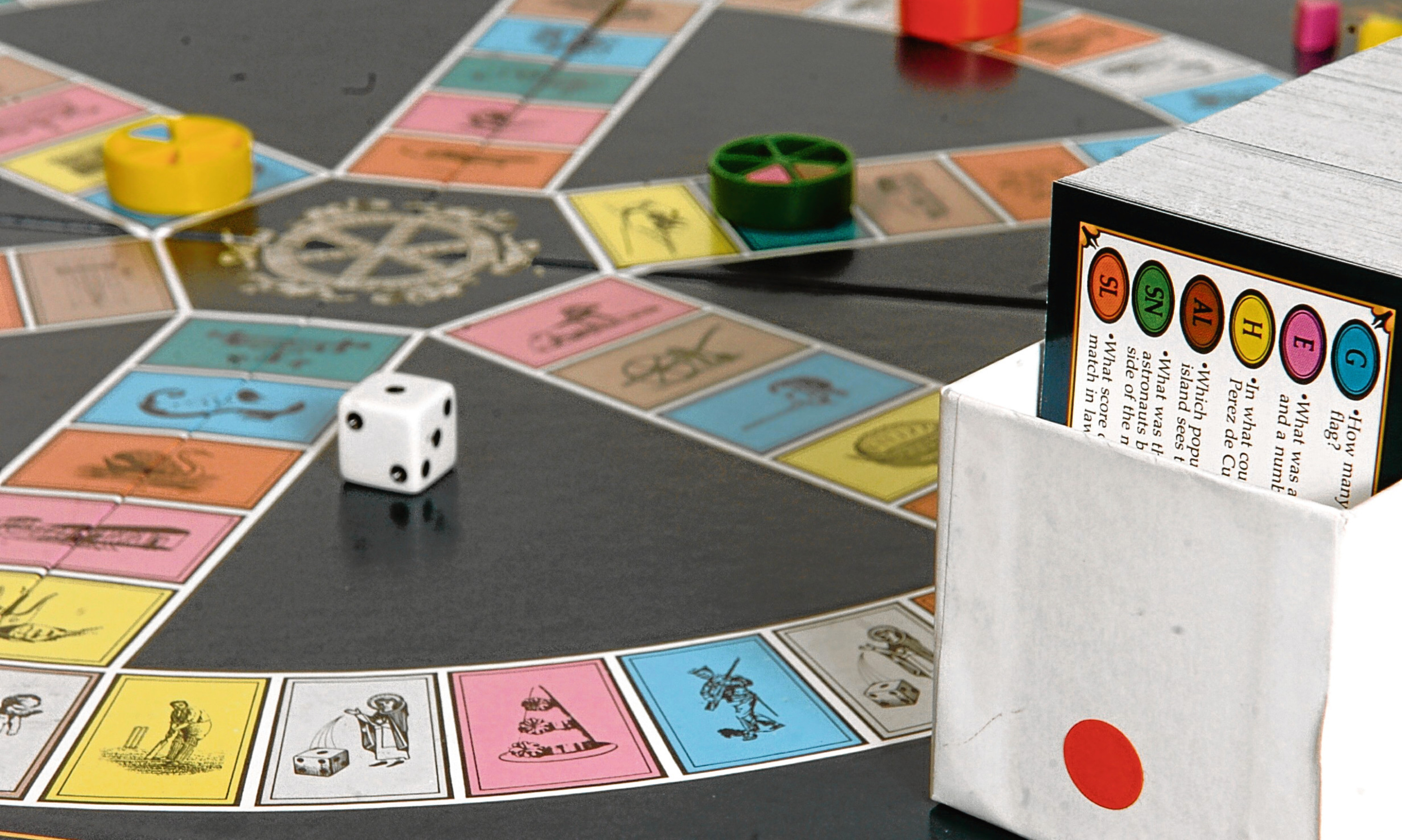 Mike has problems with Trivial Pursuit - such as arguing with the answers.