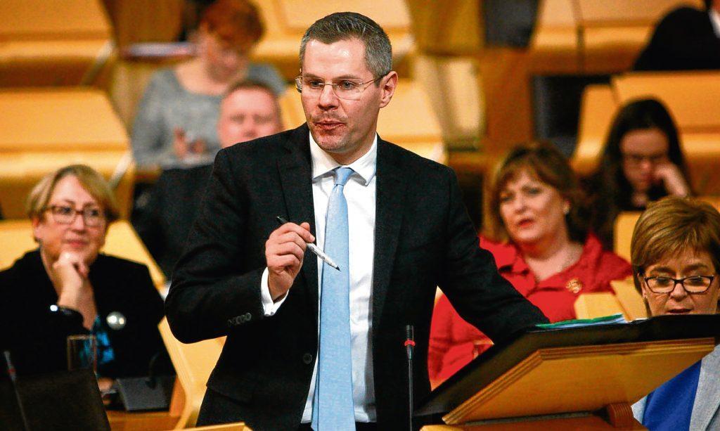Cabinet Secretary for Finance Derek Mackay.
