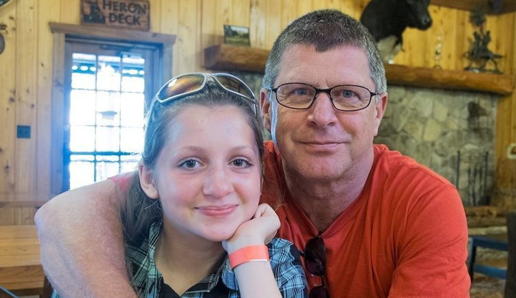 Hannah Cubin and her dad Andy.