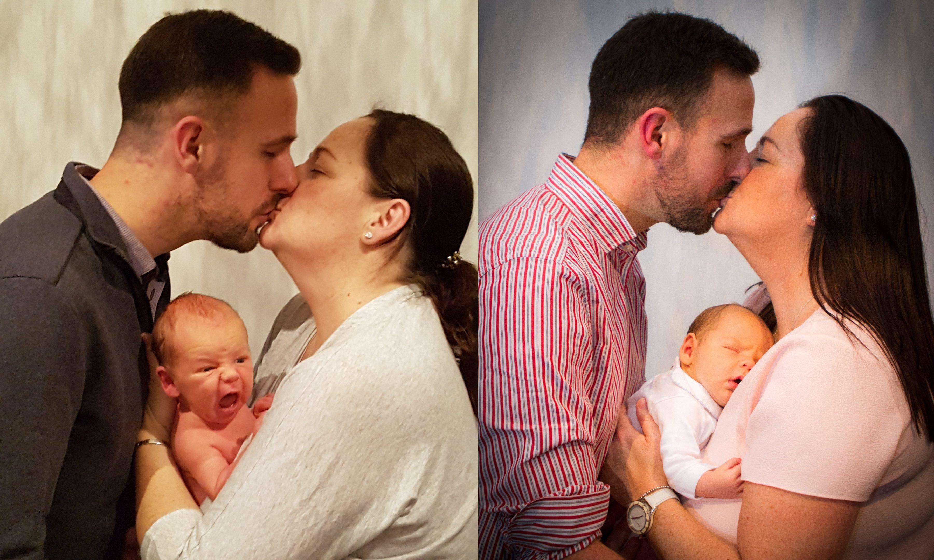 The happy family...eventually.