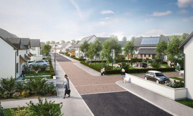 The original plan for the £1bn Bertha Park village.