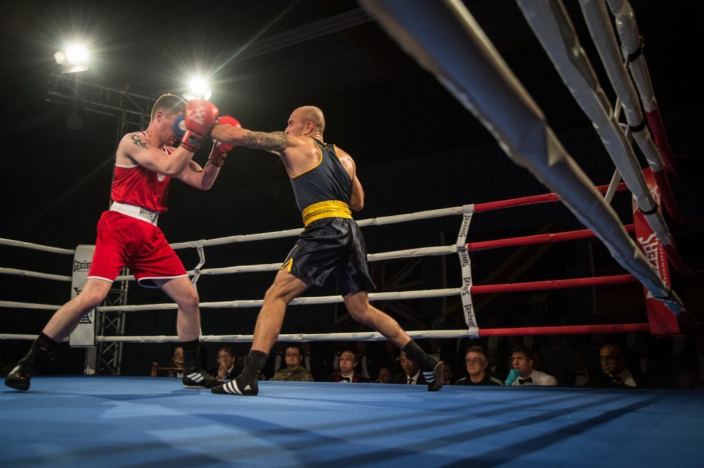 Cpl Ryan Bolam fighhts Lance Corporal Andrew Foster.