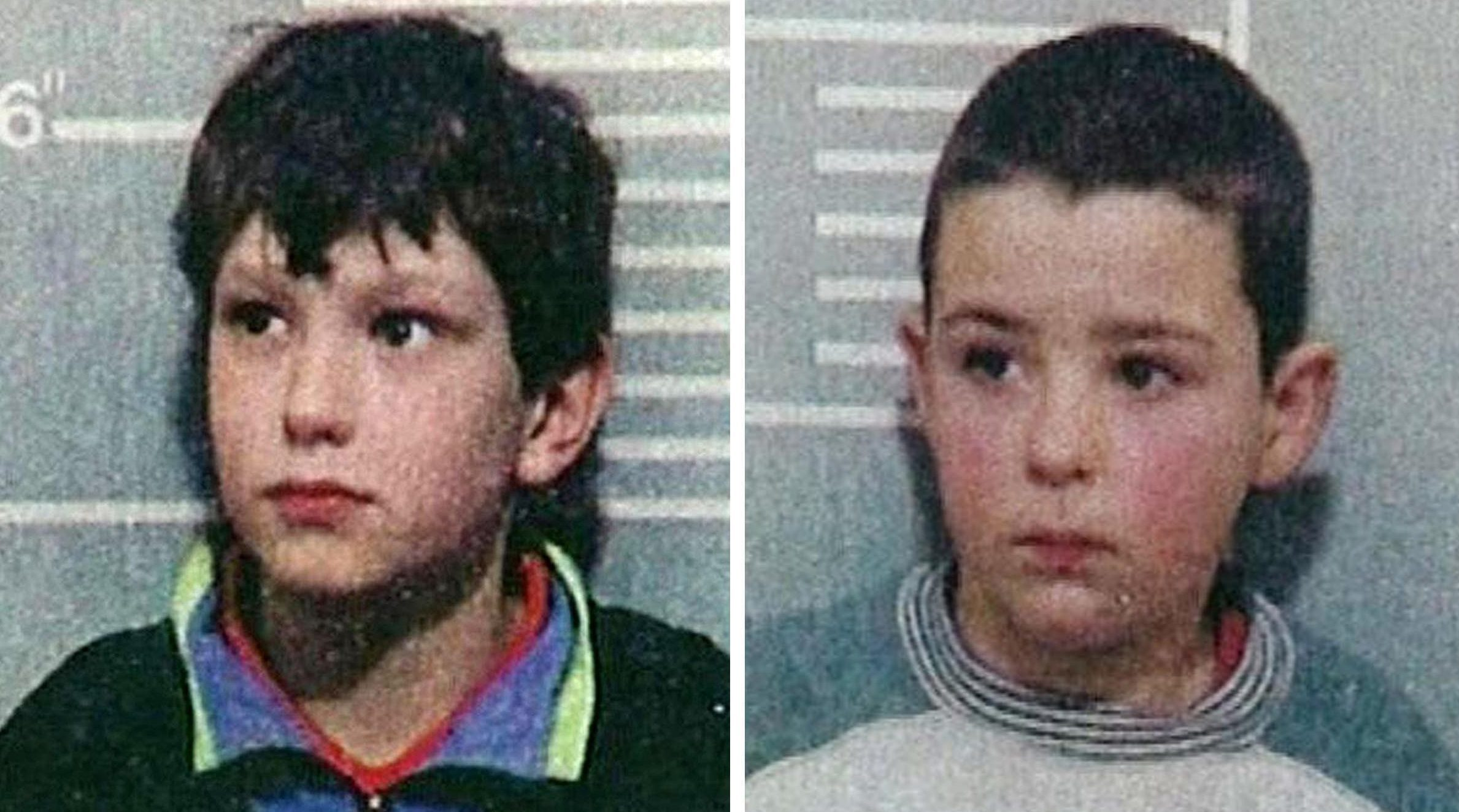 Jon Venables (left) and Robert Thompson were convicted of killing two-year-old James Bulger in 1993.