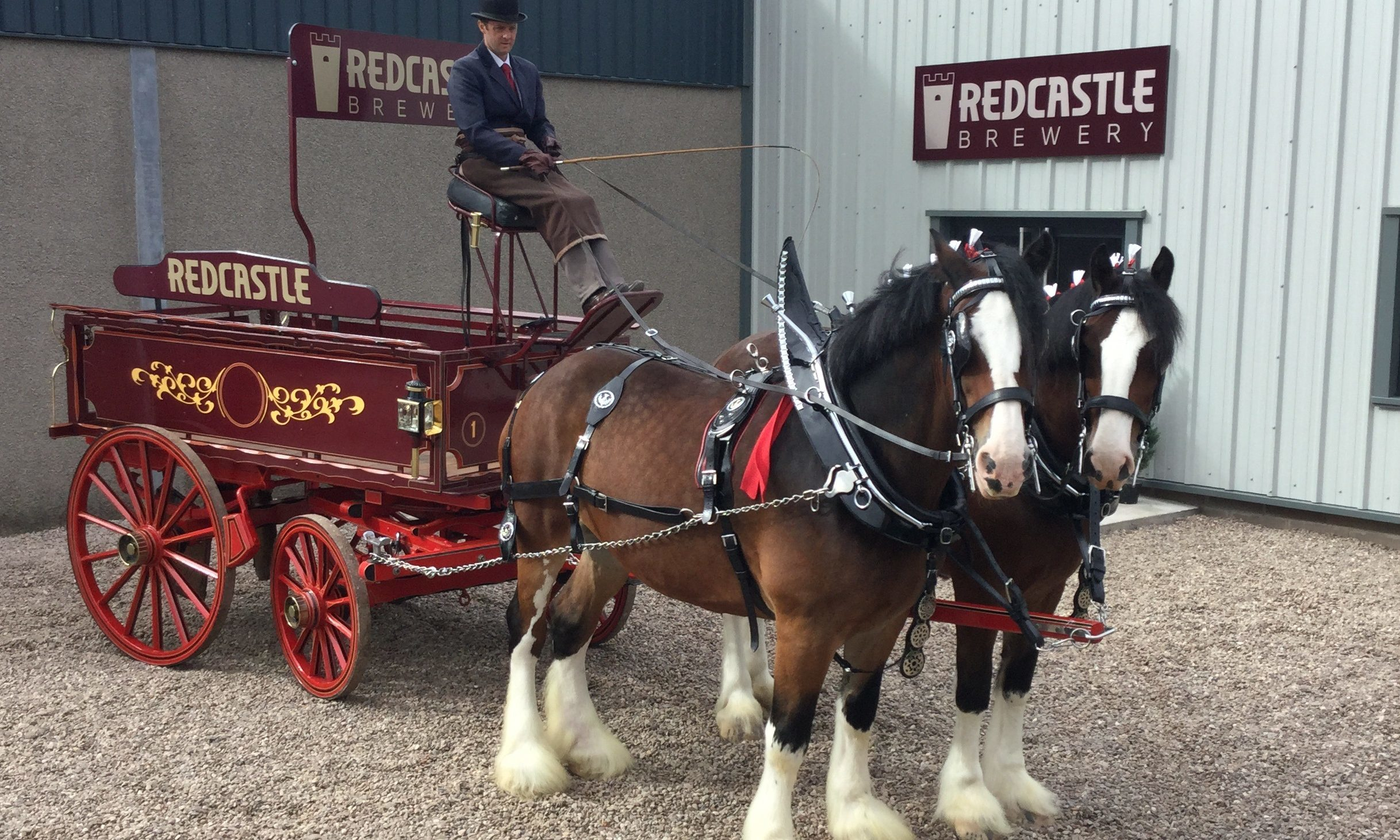 Scotland's newest craft ale has been launched by Redcastle Brewery on a farm in Carmyllie