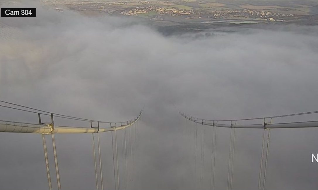 A view from the top of the Forth Road Bridge, 5 December