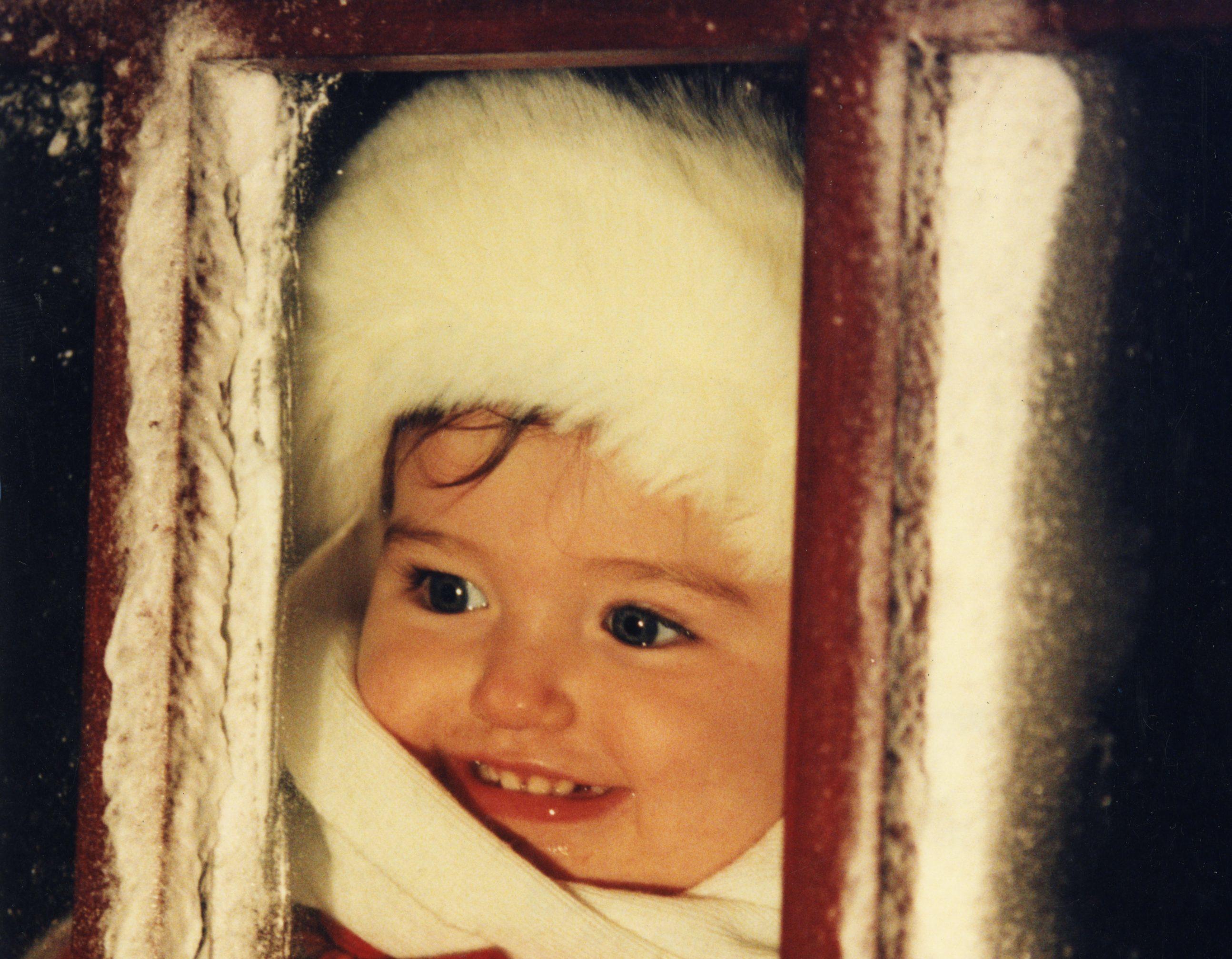 St Johnstone defender John McQuillan's daughter one-year-old Taylor McQuillan in 1997.