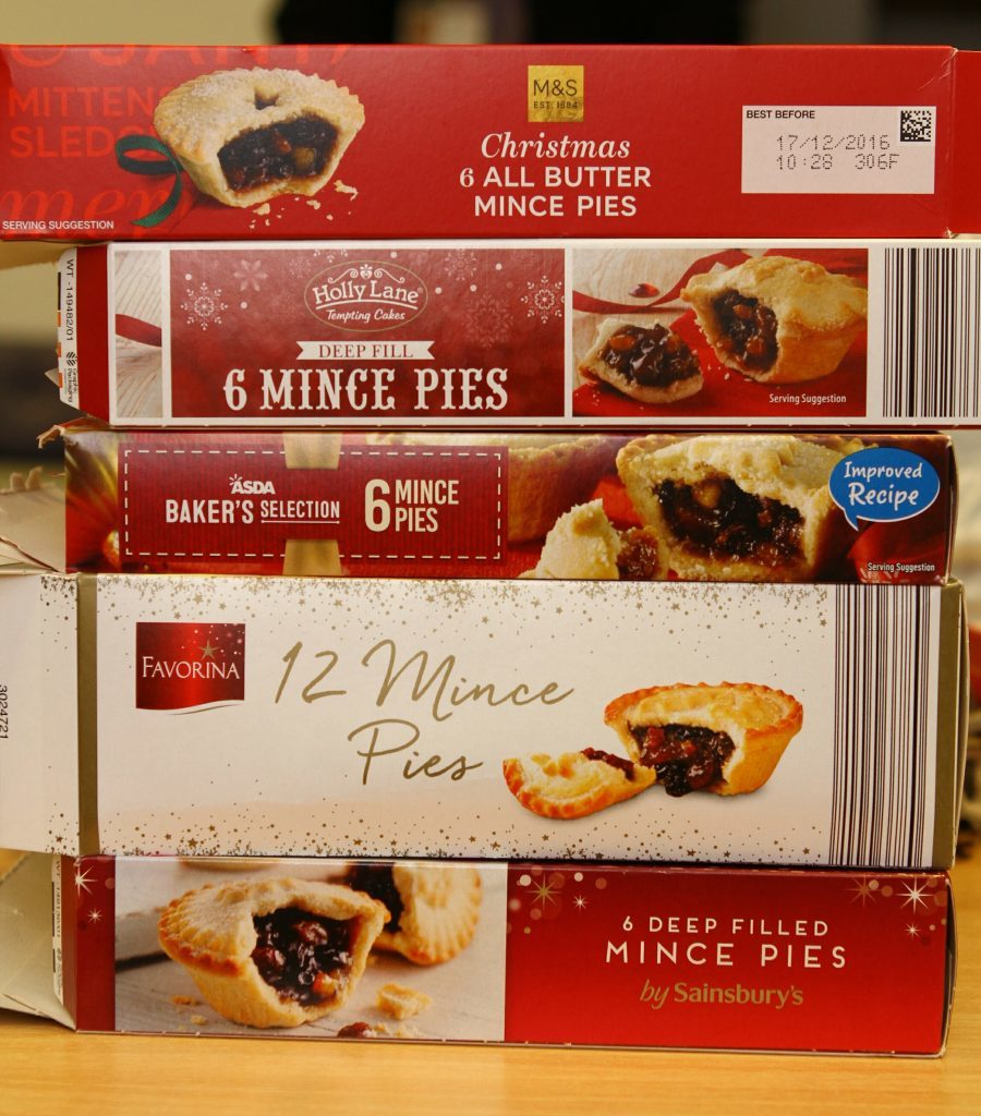 THIS PICTURE IS FOR JACK McKEOWN. Picture shows; the Mince Pies that were sampled at the taste test at the Students Union in Dundee. Thursday 1st December 2016. Thursday