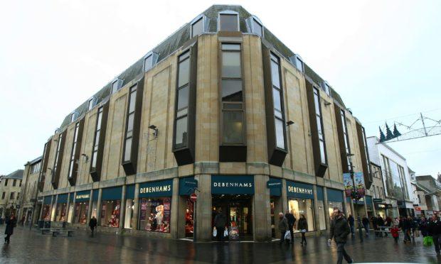 The Debenhams store, High Street, Perth