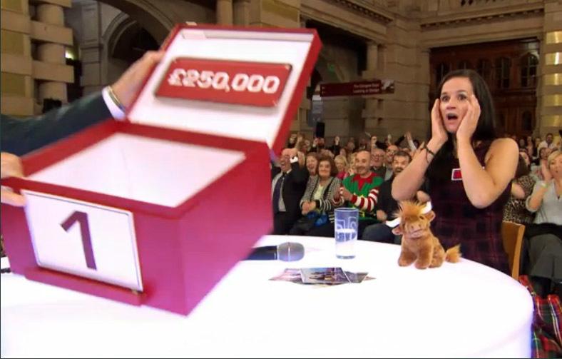 Angus woman Vikki Heenan winning  £250,000 on Deal Or No Deal