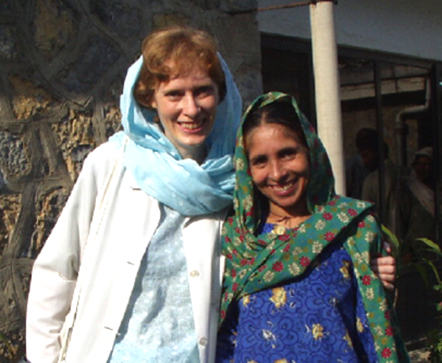 Dr Elspeth Paterson in Pakistan.