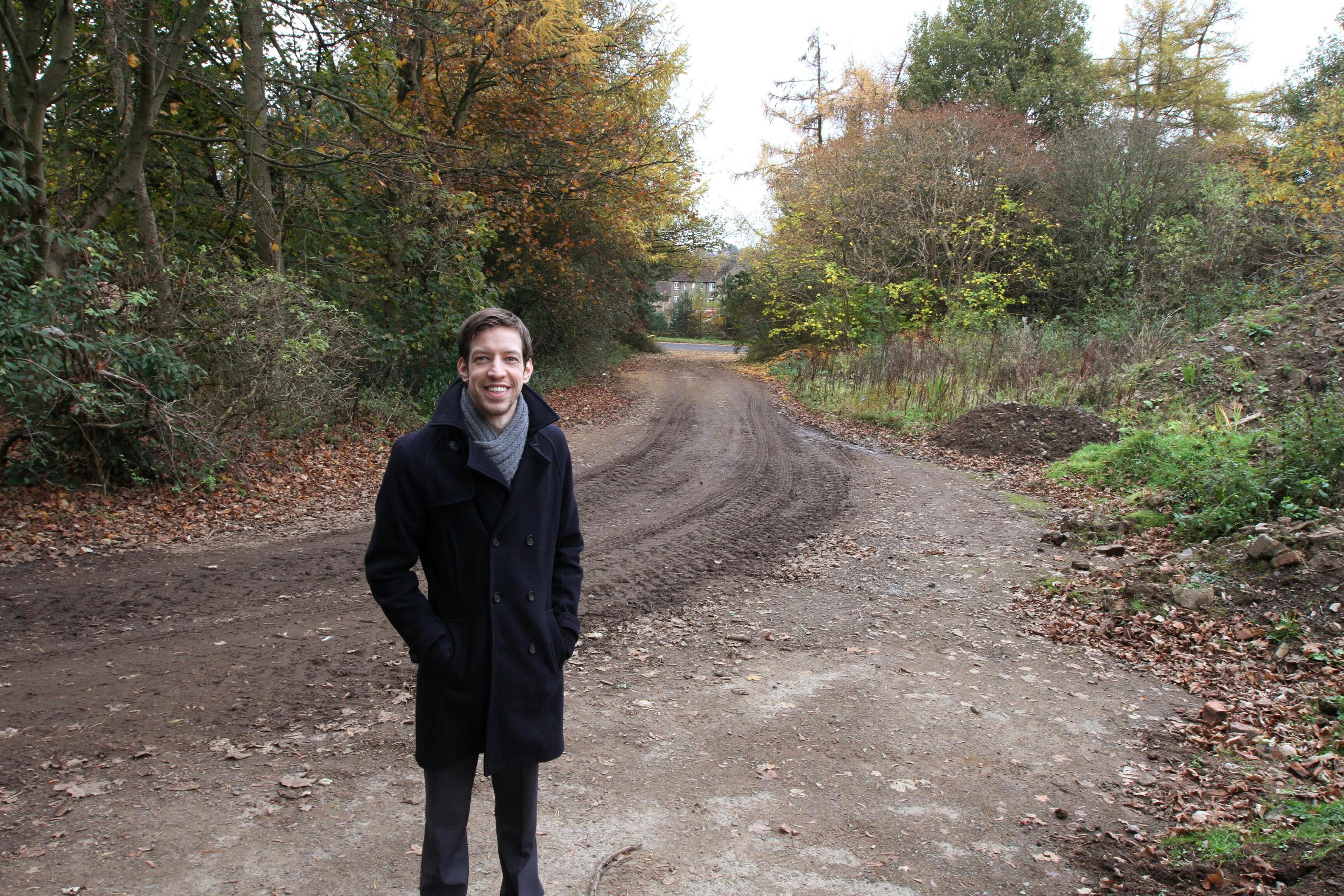 Cllr Alexander at the proposed site