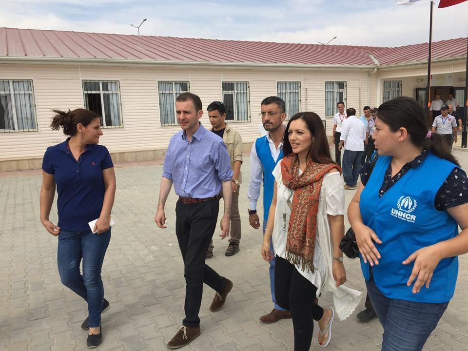 Stephen Gethins, and fellow SNP MP Tasmina Ahmed-Sheikh, on a visit to Syria