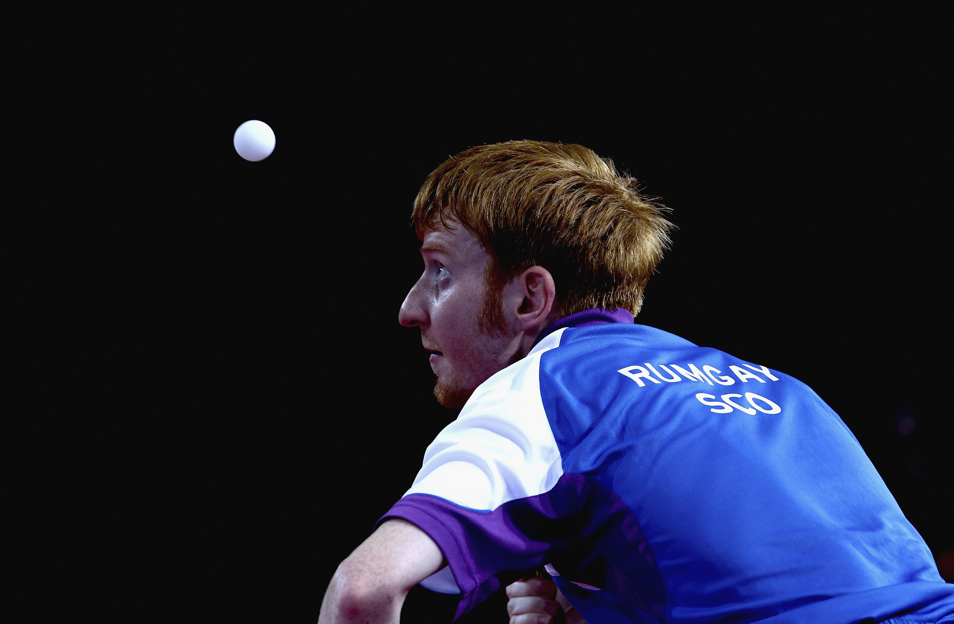 Gavin Rumgay in action in Glasgow.