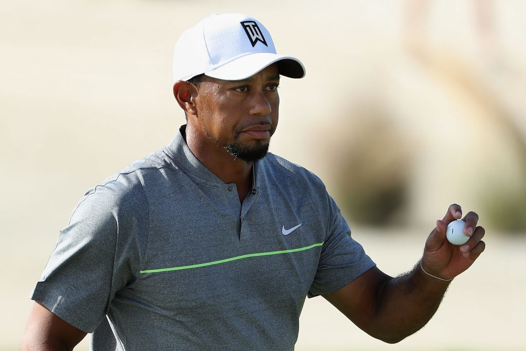 Tiger Woods back on a golf course competing.