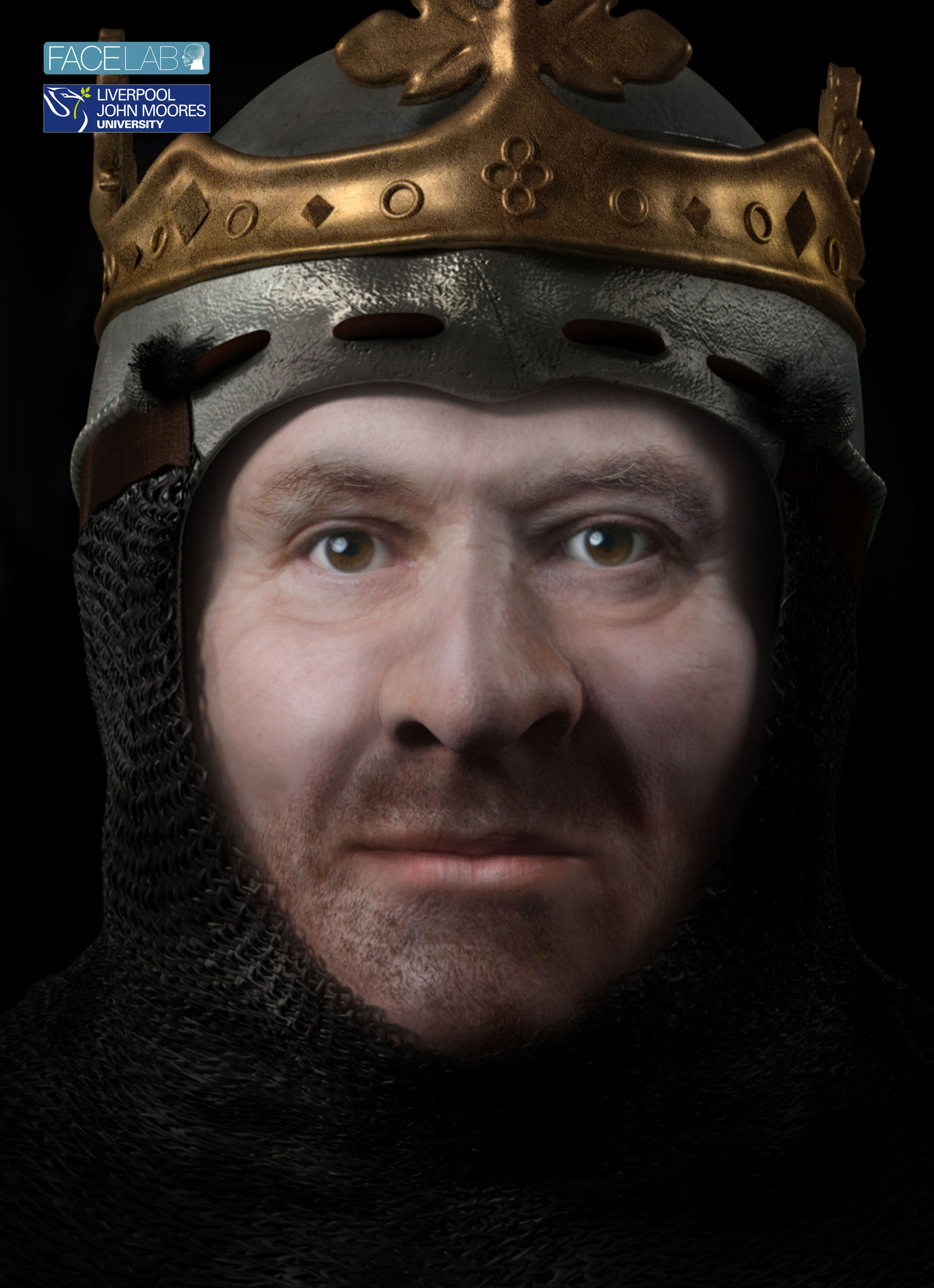 A virtual image of what could be the head of Robert the Bruce.