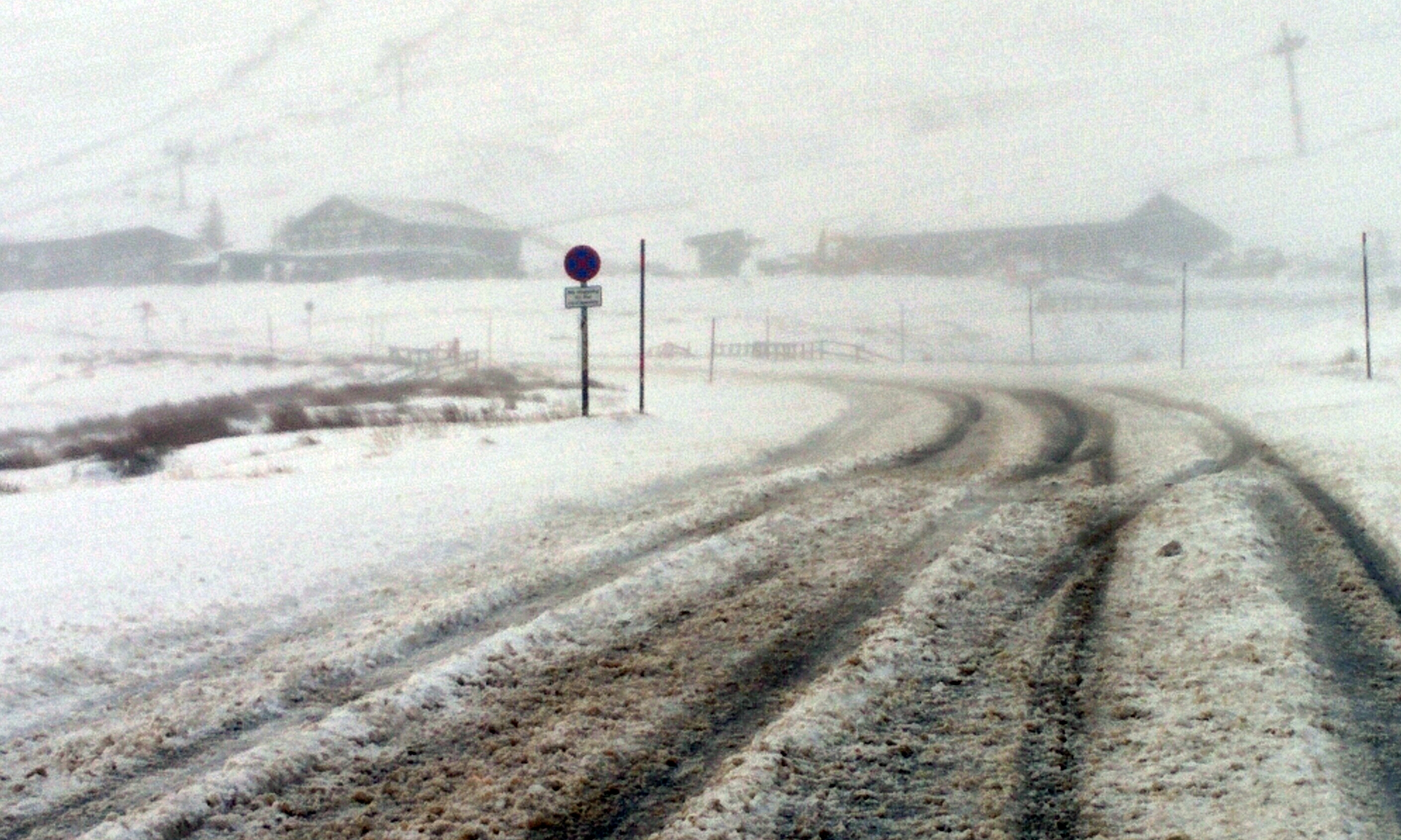 White-out conditions near the Glenshee ski centre on Boxing Day.