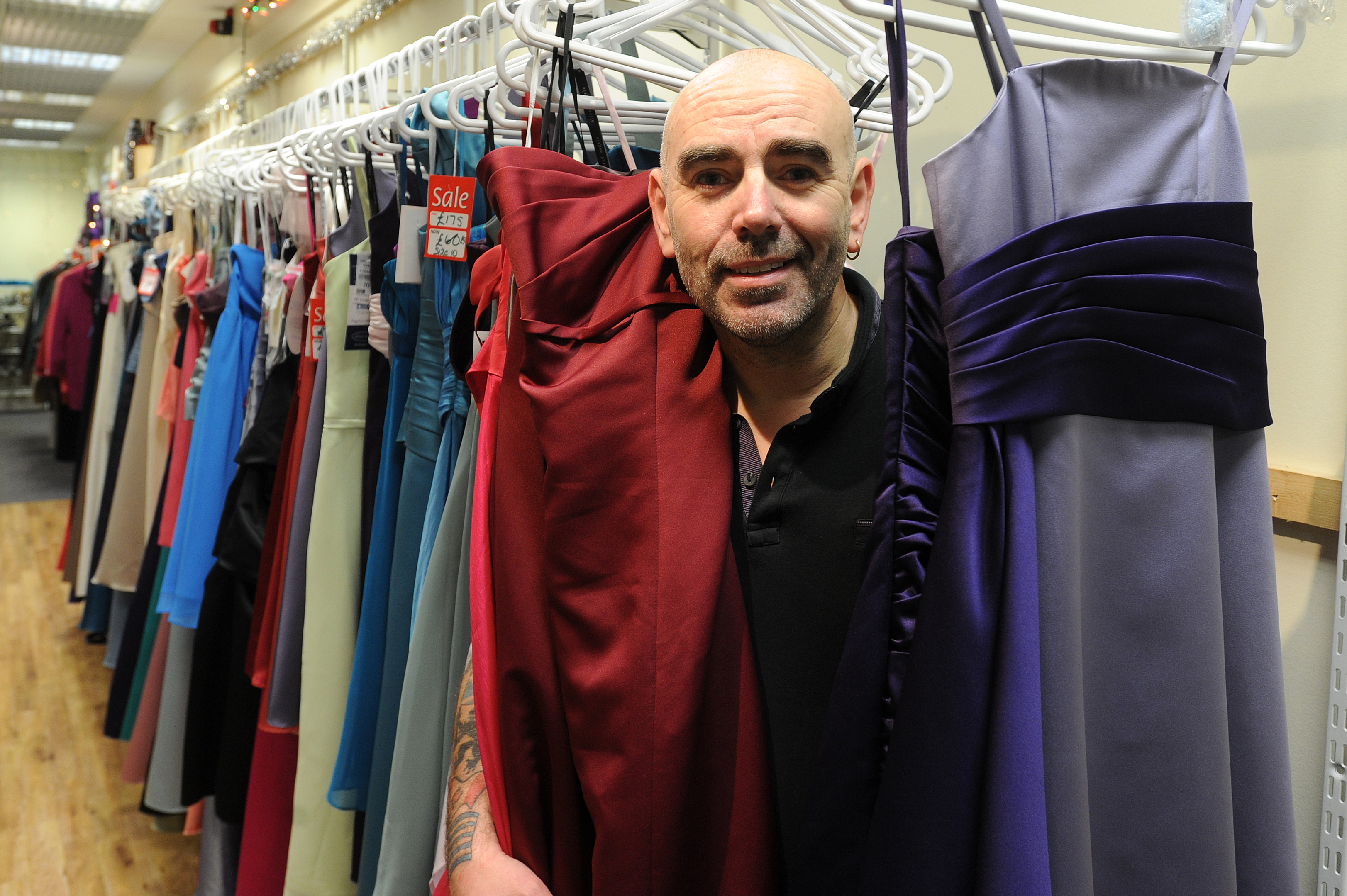 Mr Smith has welcomed the donation of almost 200 new bridesmaid dresses