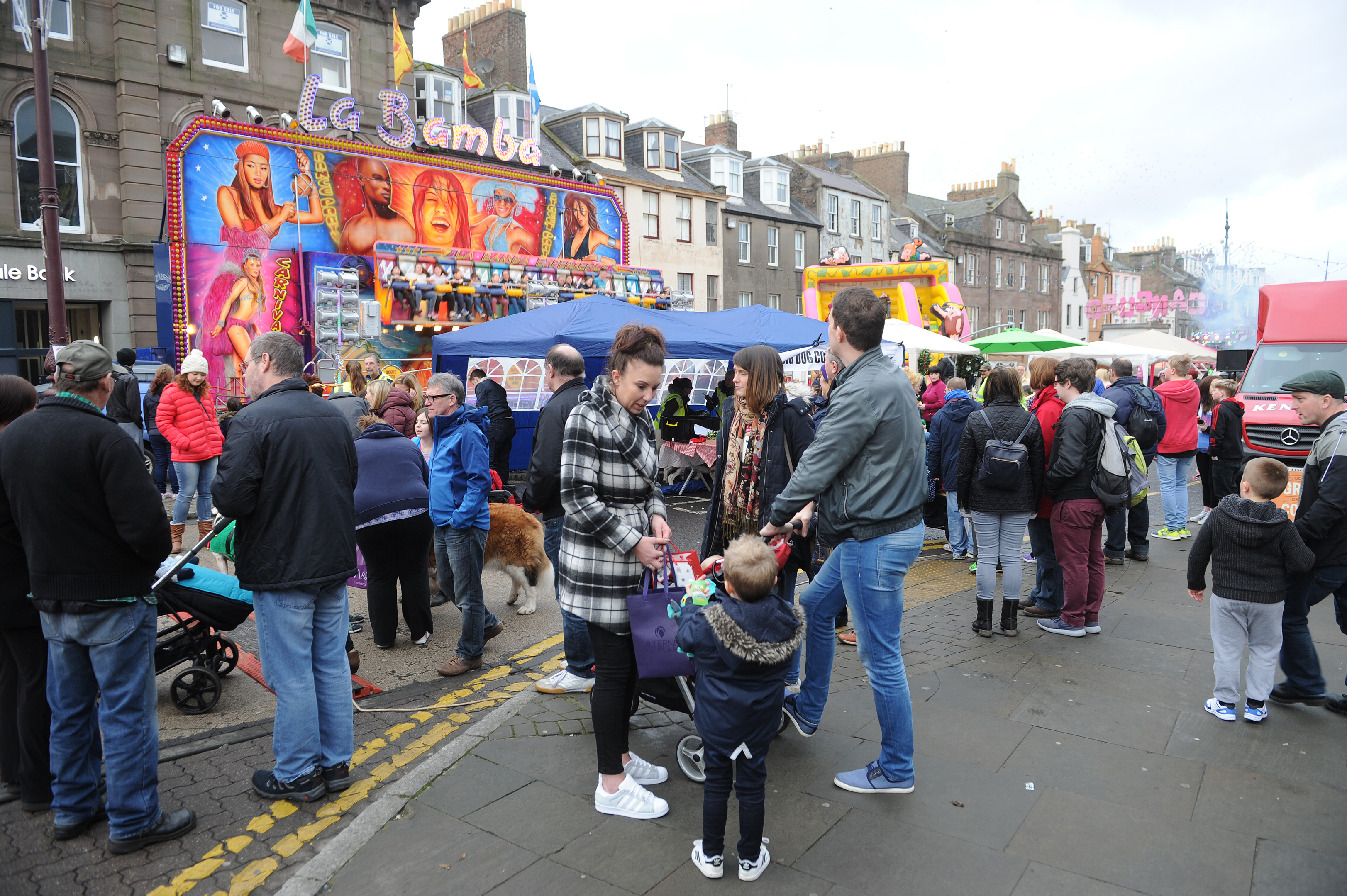 There was a full complement of stalls on both days.