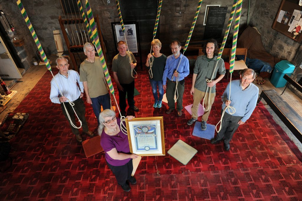 Peter, back row, third from left, and some of the bell ringing team.