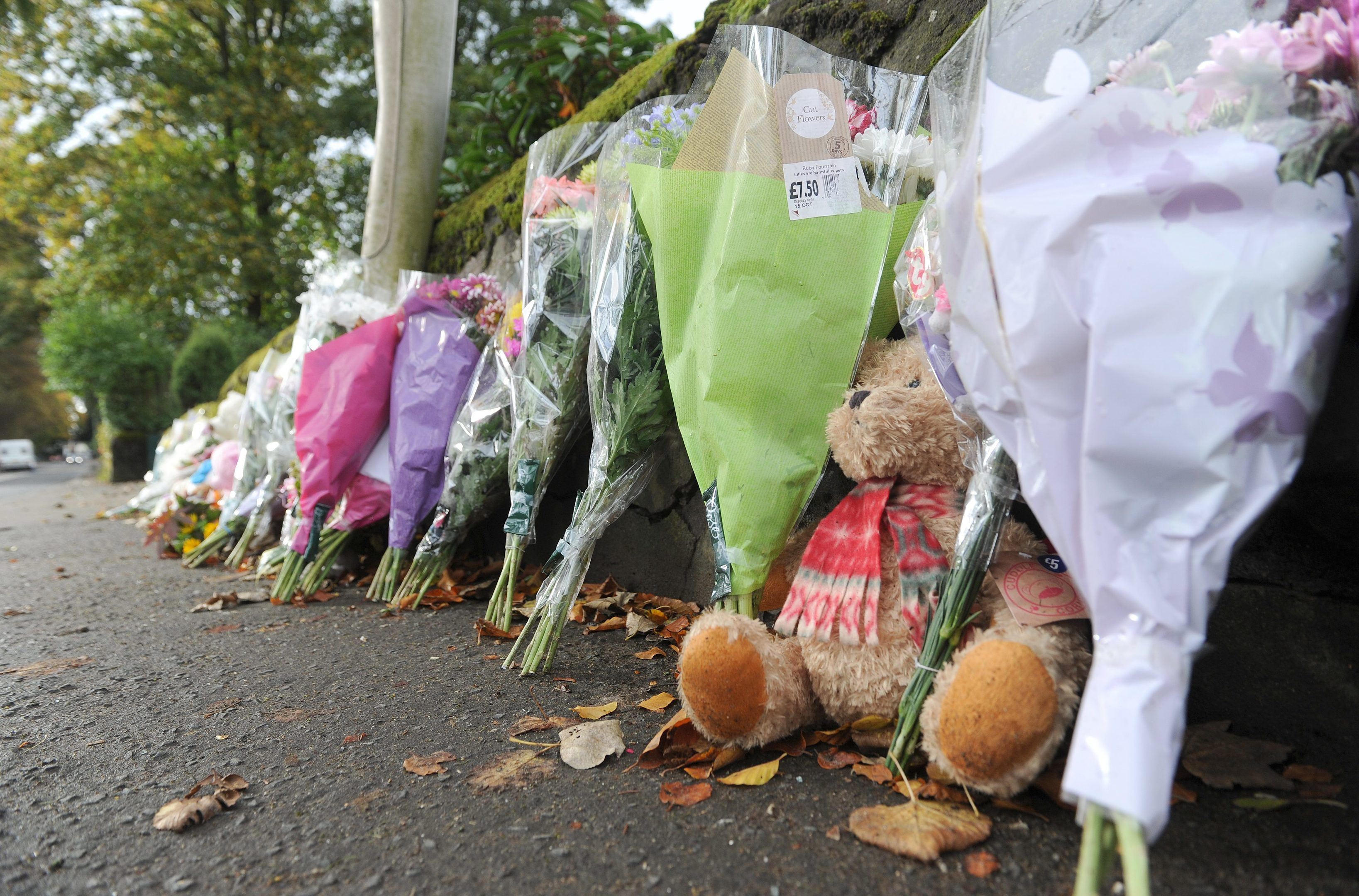 Tributes left at the scene of the accident.
