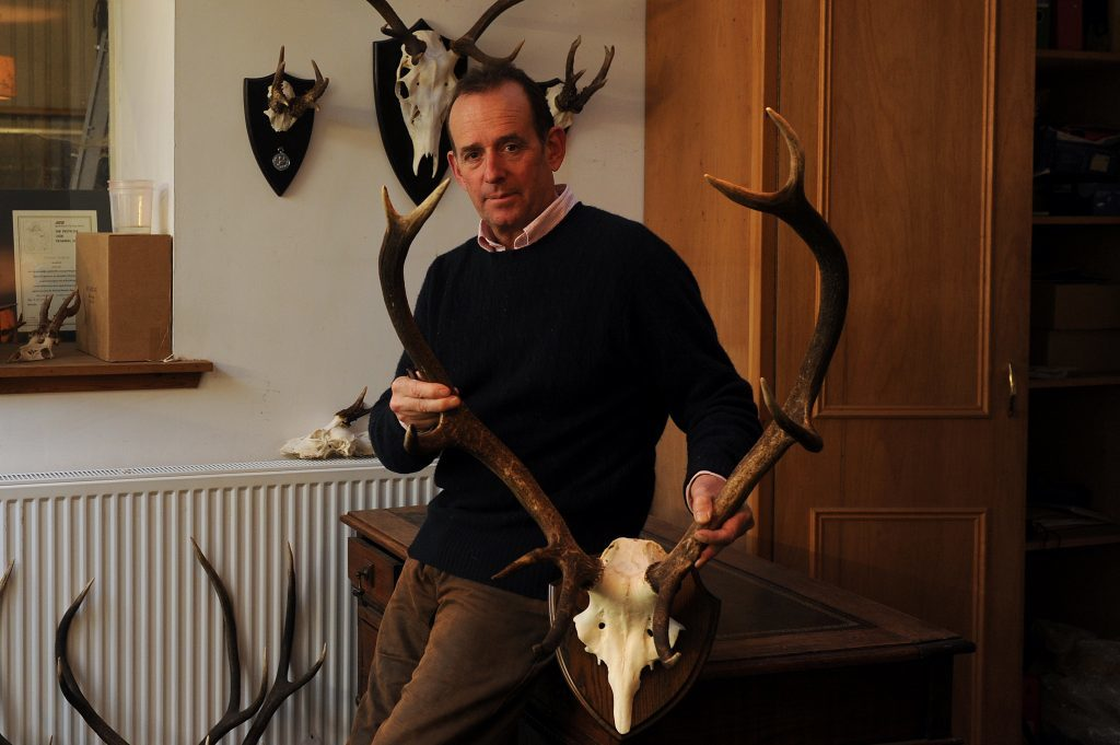 Courier Farming - Farming - Phillipa Merry story - Woodmill Shootings, Lindores, Newburgh on the game shooting business run by Steven Wade and the venison that he sells as a reslt. Picture Shows; Steven Wade in the office, Woodmill Shootings, Lindores, Newburgh, Thursday 08 December 2016