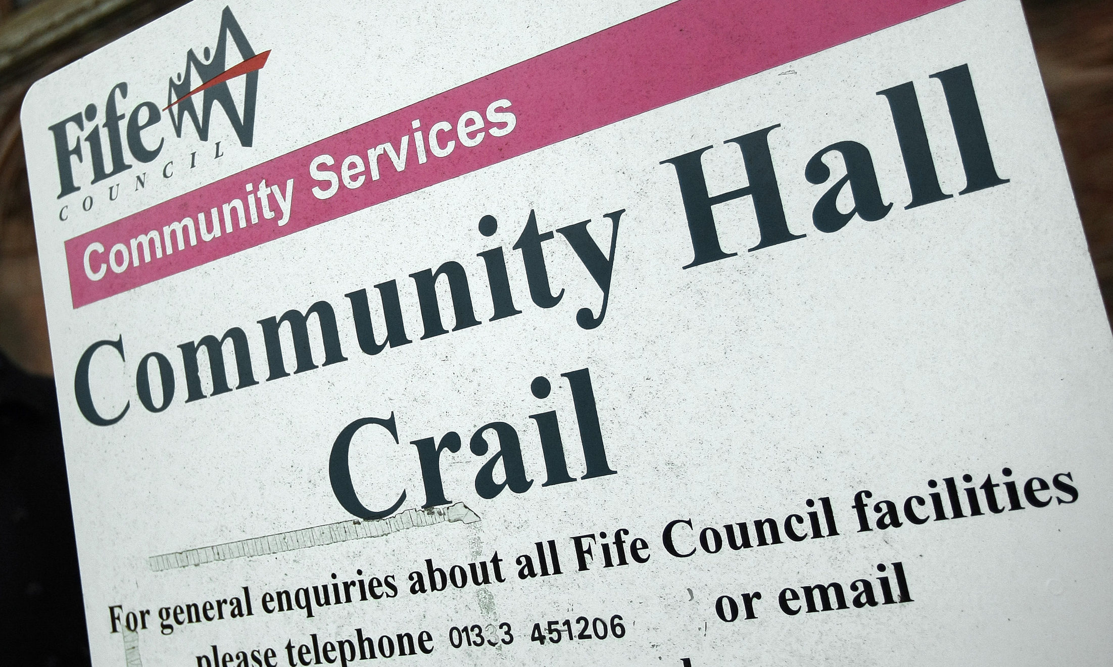 A community take-over of the Crail hall is proposed.