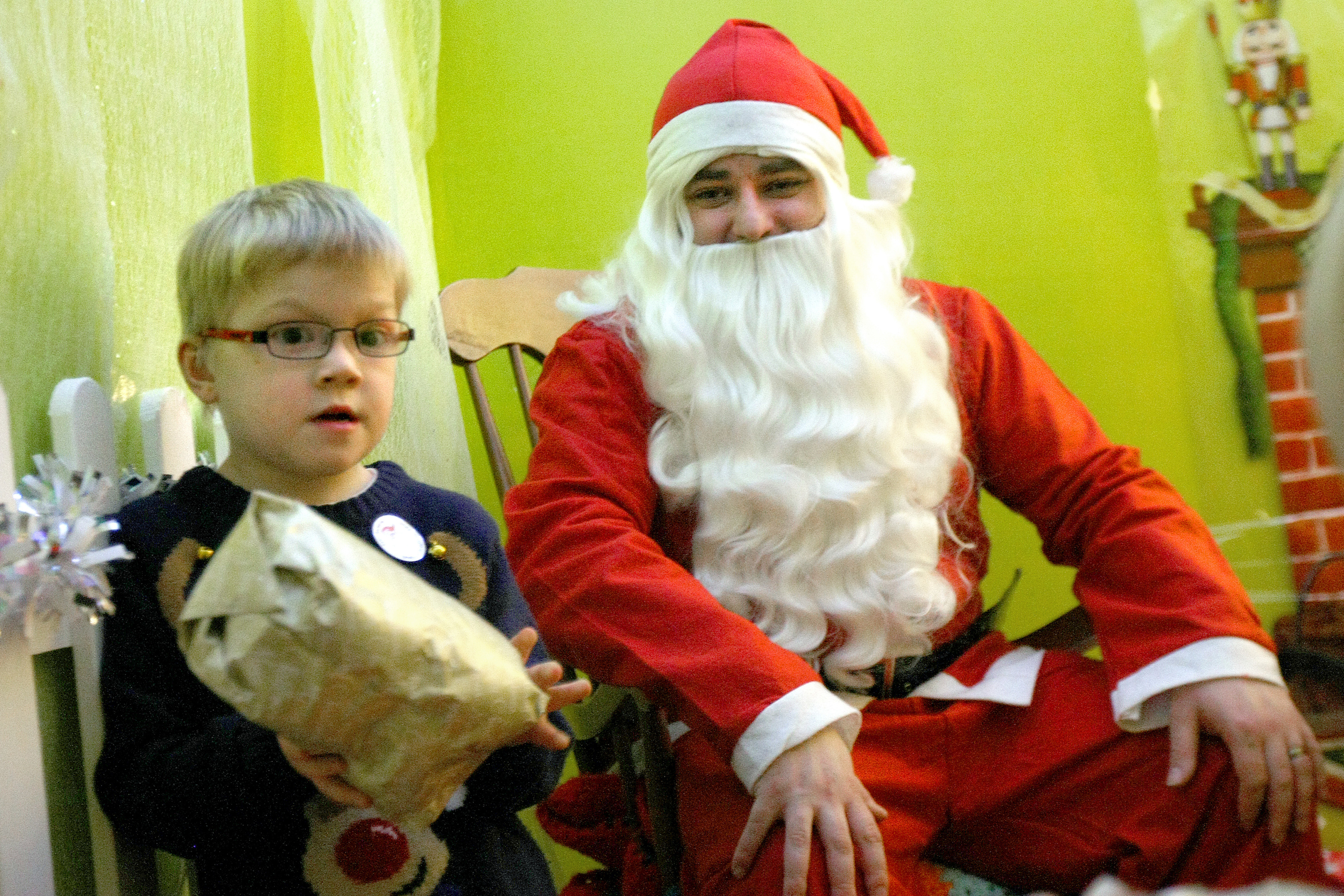 The grotto aims to bring Christmas closer to children with communication difficulties