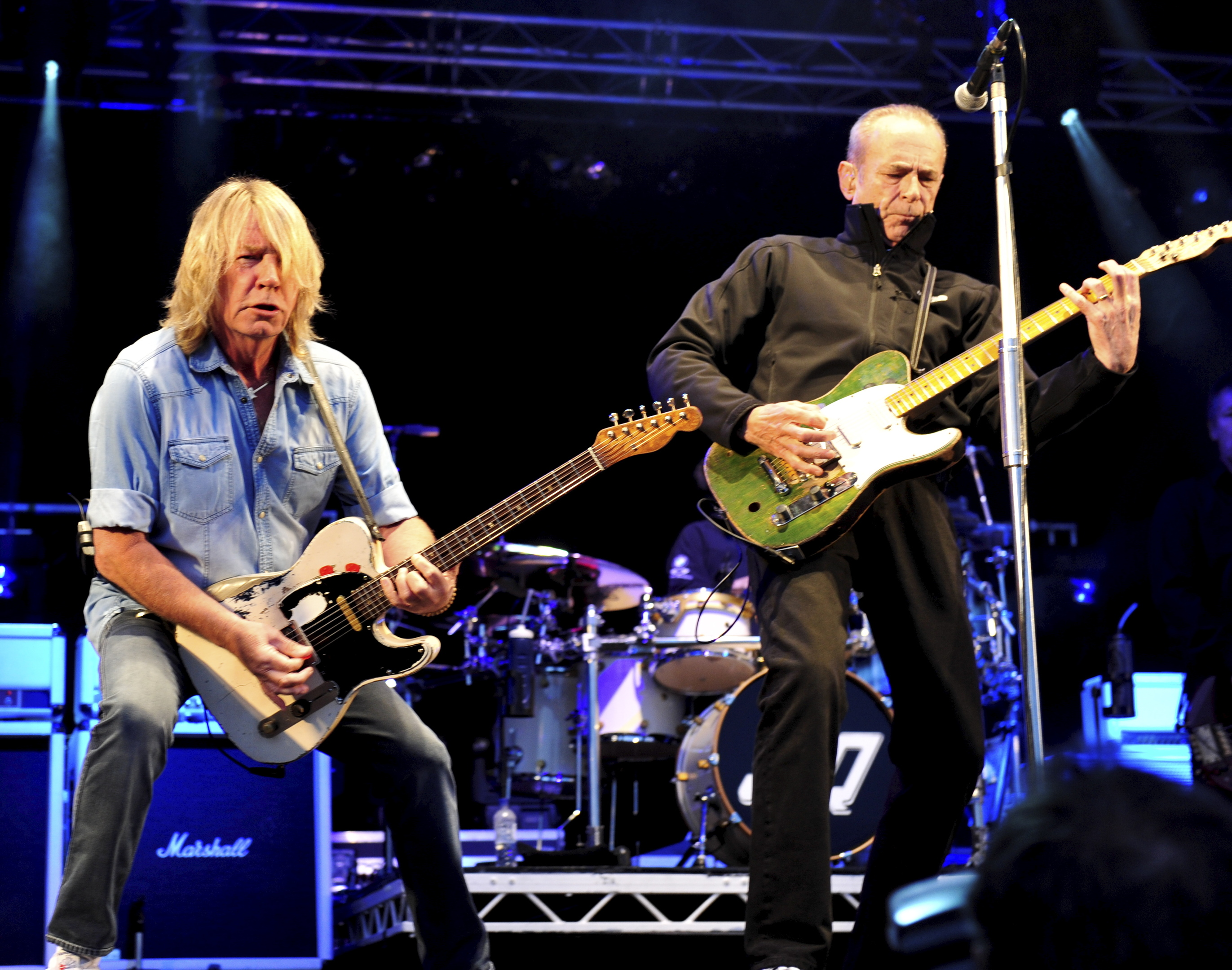 Rick Parfitt pictured during a Status Quo gig in Montrose.