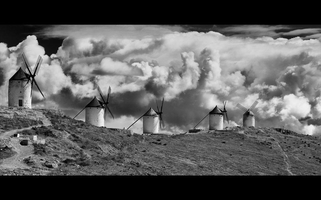 Windmills of La Mancha, one of the winning photos.